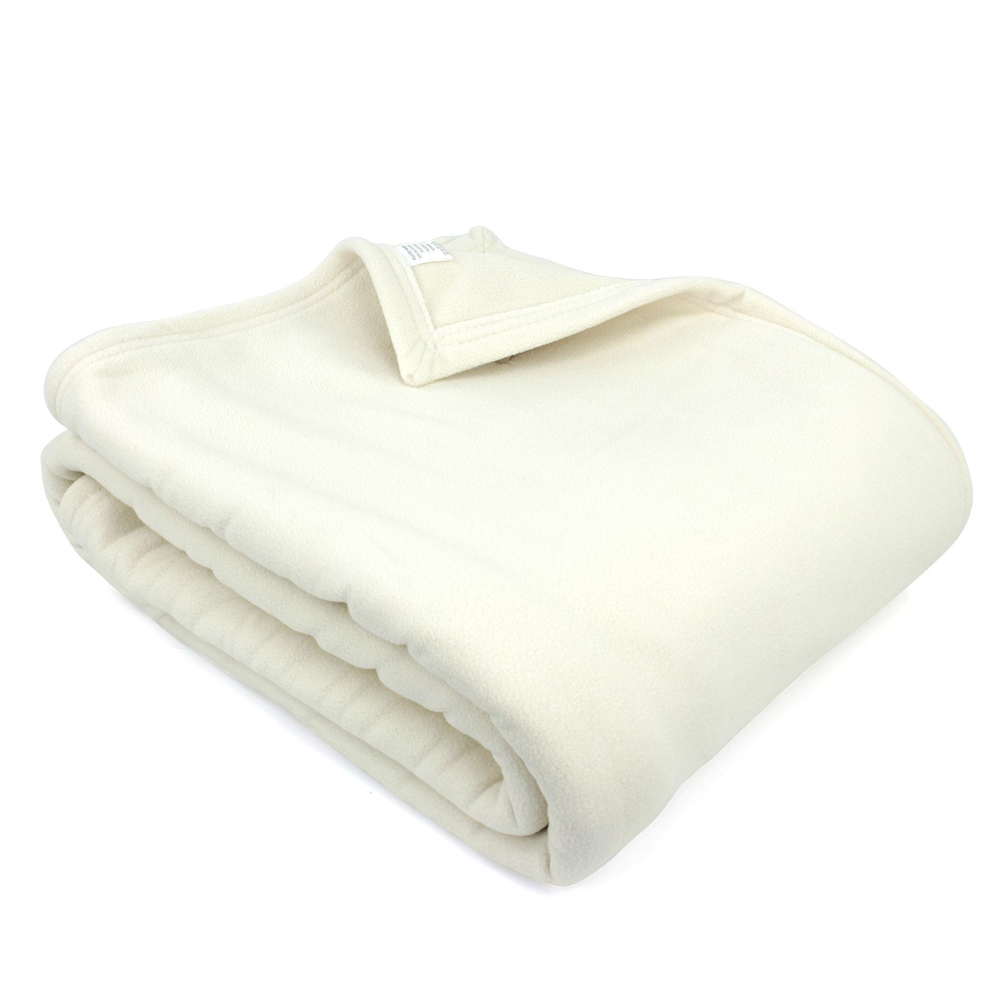 couverture polaire 220x240 cm narvik naturel linnea linge de maison et. Black Bedroom Furniture Sets. Home Design Ideas