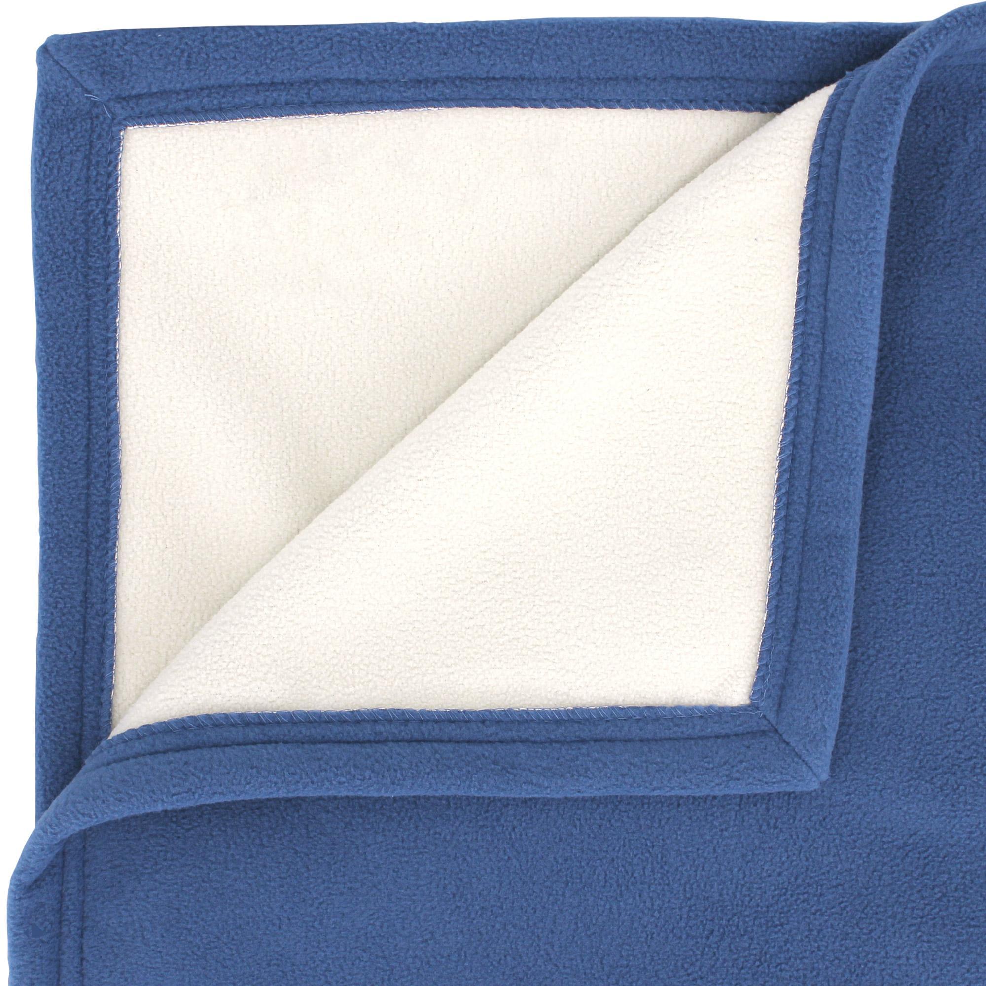 couverture polaire 220x240 cm narvik p trole naturel linnea linge de maison et. Black Bedroom Furniture Sets. Home Design Ideas