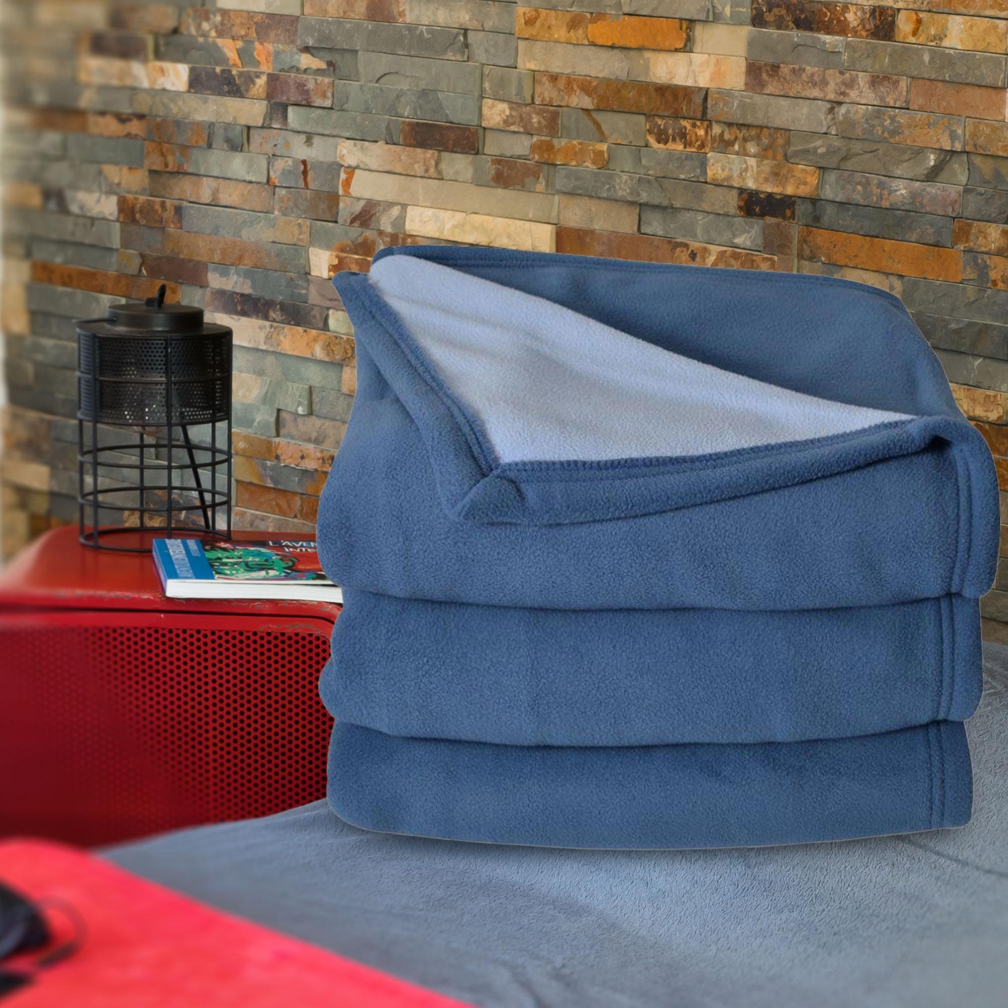 couverture polaire 220x240 cm narvik tilleul linnea linge de maison et. Black Bedroom Furniture Sets. Home Design Ideas