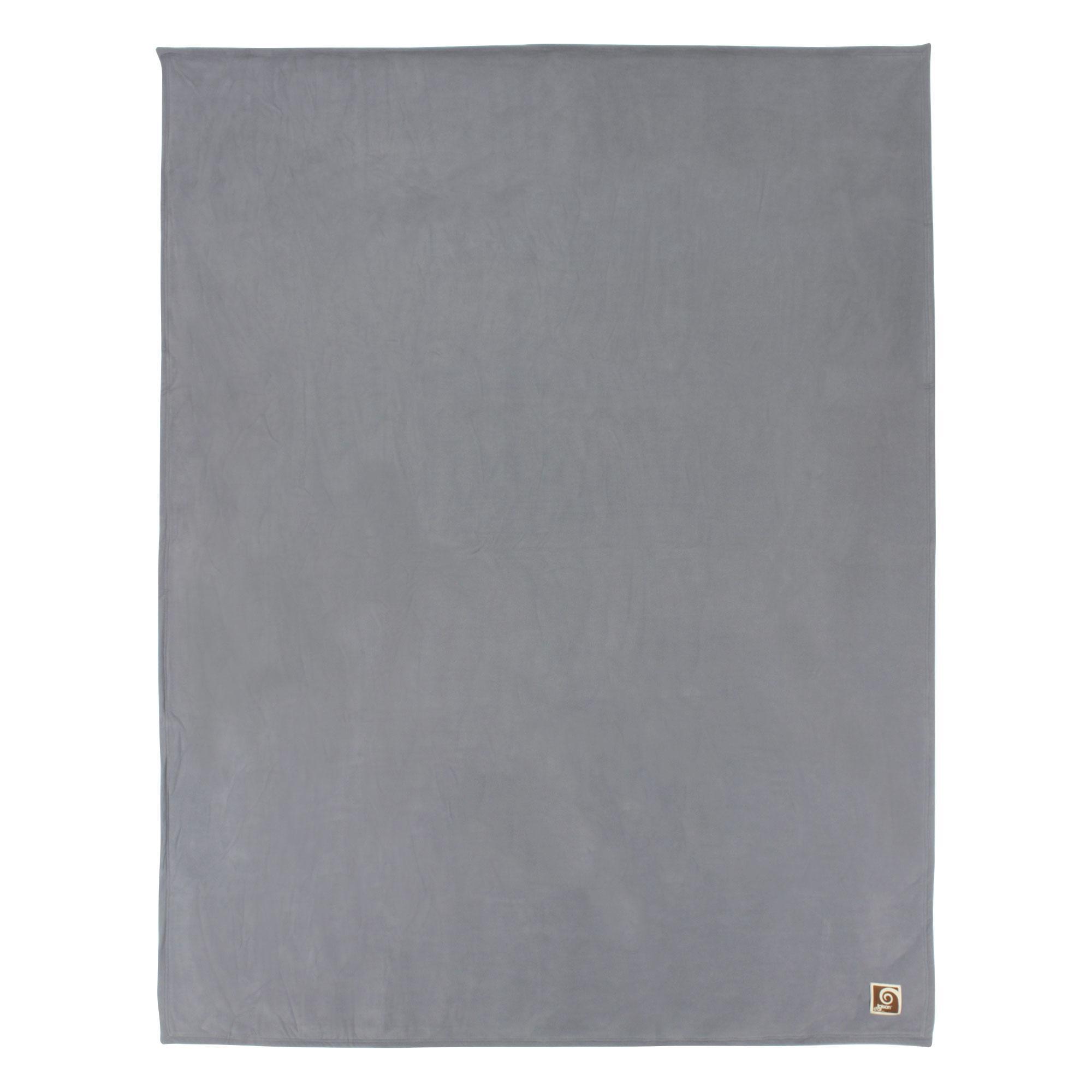 couverture polaire 240x260 cm narvik acier linnea linge de maison et. Black Bedroom Furniture Sets. Home Design Ideas