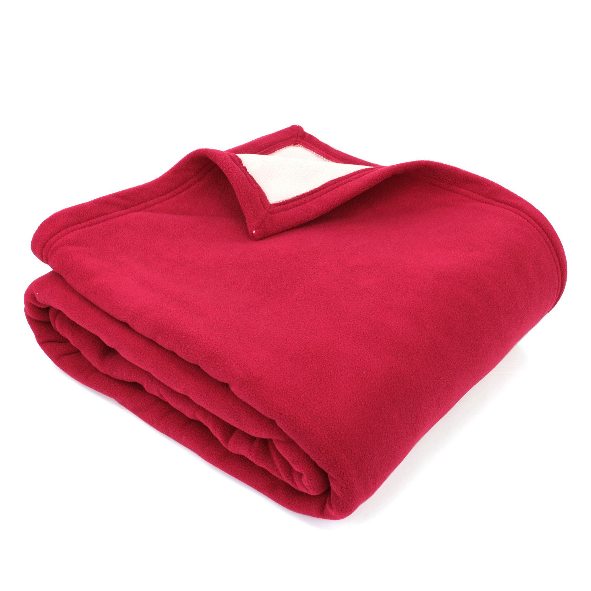 couverture polaire 240x260 cm narvik framboise linnea vente de linge de maison. Black Bedroom Furniture Sets. Home Design Ideas