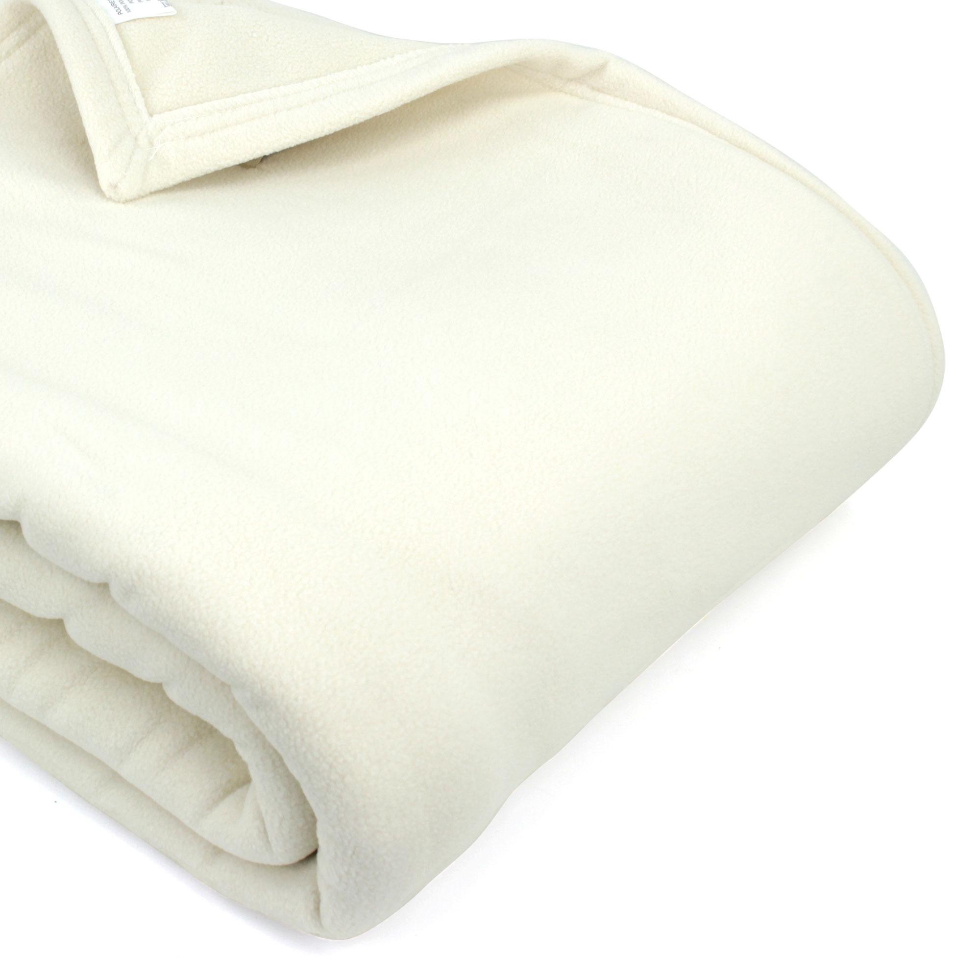 couverture polaire 240x260 cm narvik naturel linnea linge de maison et. Black Bedroom Furniture Sets. Home Design Ideas