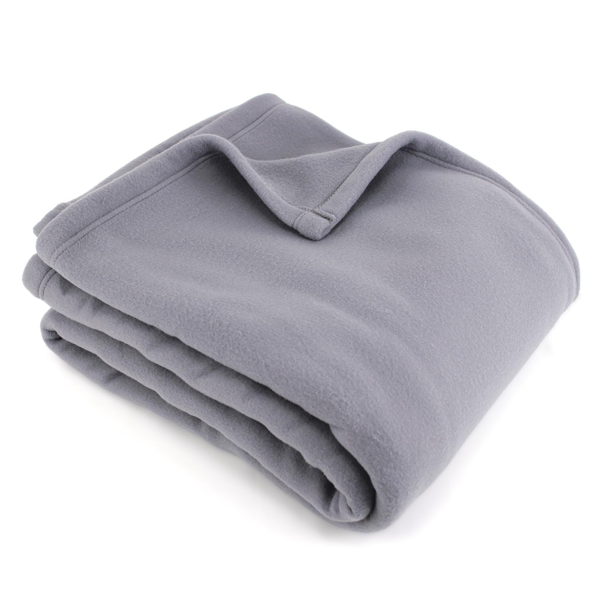 couverture polaire polyester 220x240 cm teddy acier linnea linge de maison et. Black Bedroom Furniture Sets. Home Design Ideas