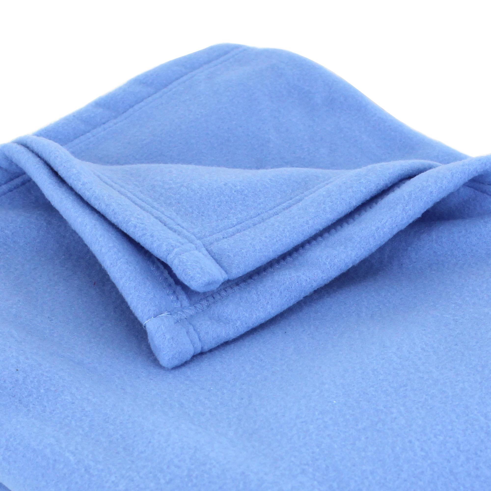 couverture polaire polyester 220x240 cm teddy azur linnea linge de maison et. Black Bedroom Furniture Sets. Home Design Ideas