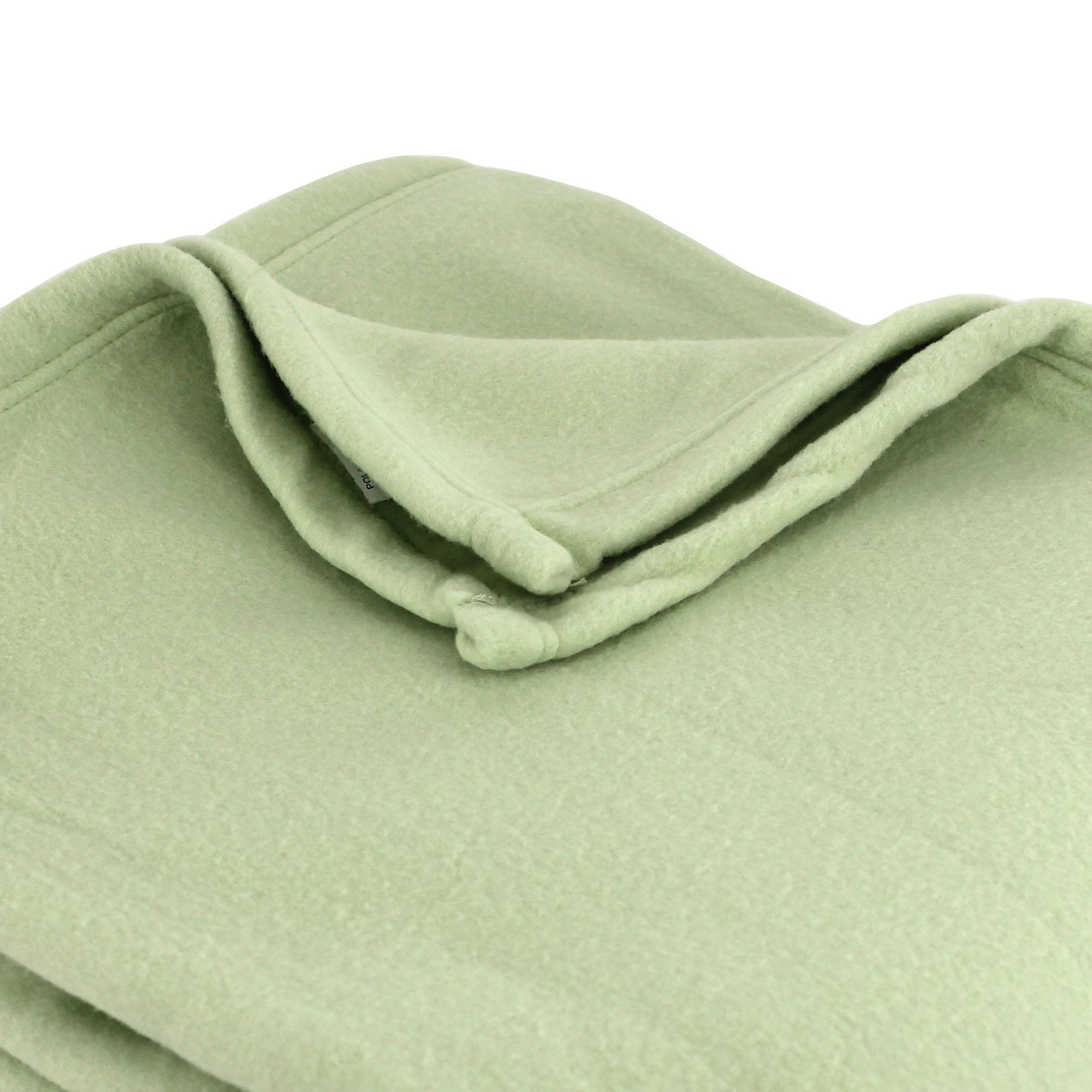 couverture polaire polyester 220x240 cm teddy tilleul linnea linge de maison et. Black Bedroom Furniture Sets. Home Design Ideas