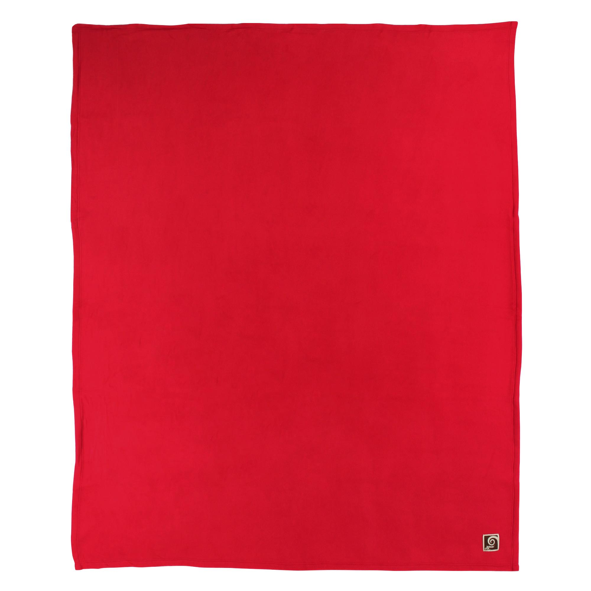 Couverture-polaire-240x260-cm-100-Polyester-350g-m2-TEDDY-Rouge-Cerise