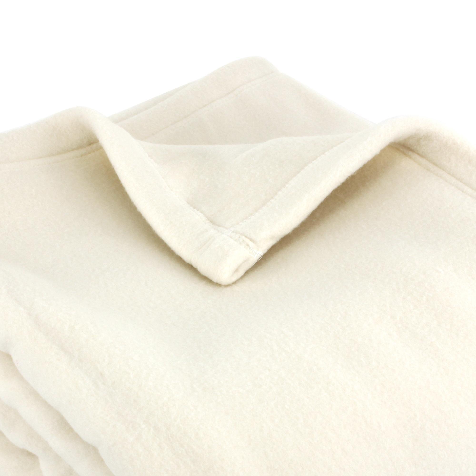 couverture polaire polyester 240x260 cm teddy naturel linnea linge de maison et. Black Bedroom Furniture Sets. Home Design Ideas