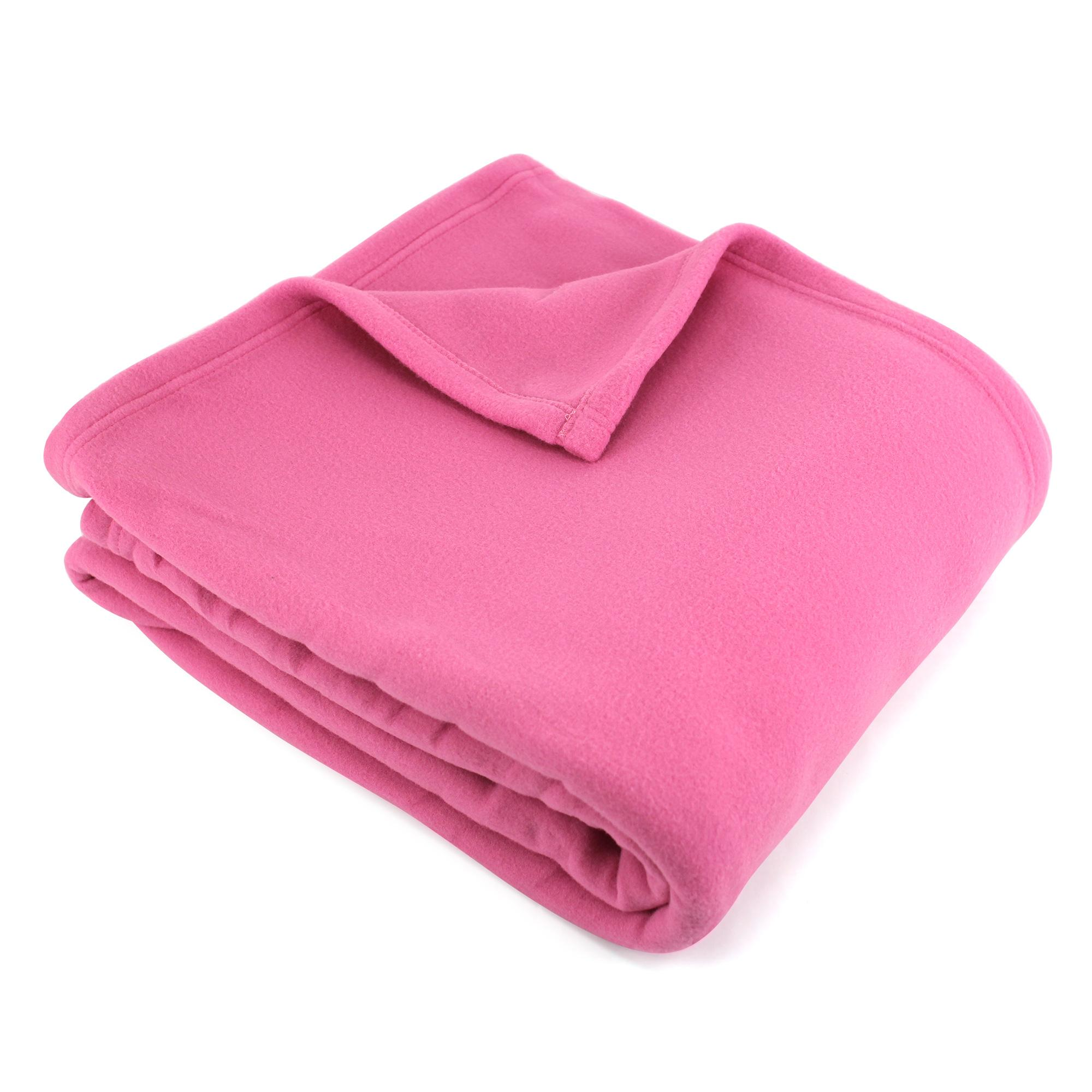 couverture polaire 240x260 100 polyester 350g m2 teddy rose p tunia ebay. Black Bedroom Furniture Sets. Home Design Ideas
