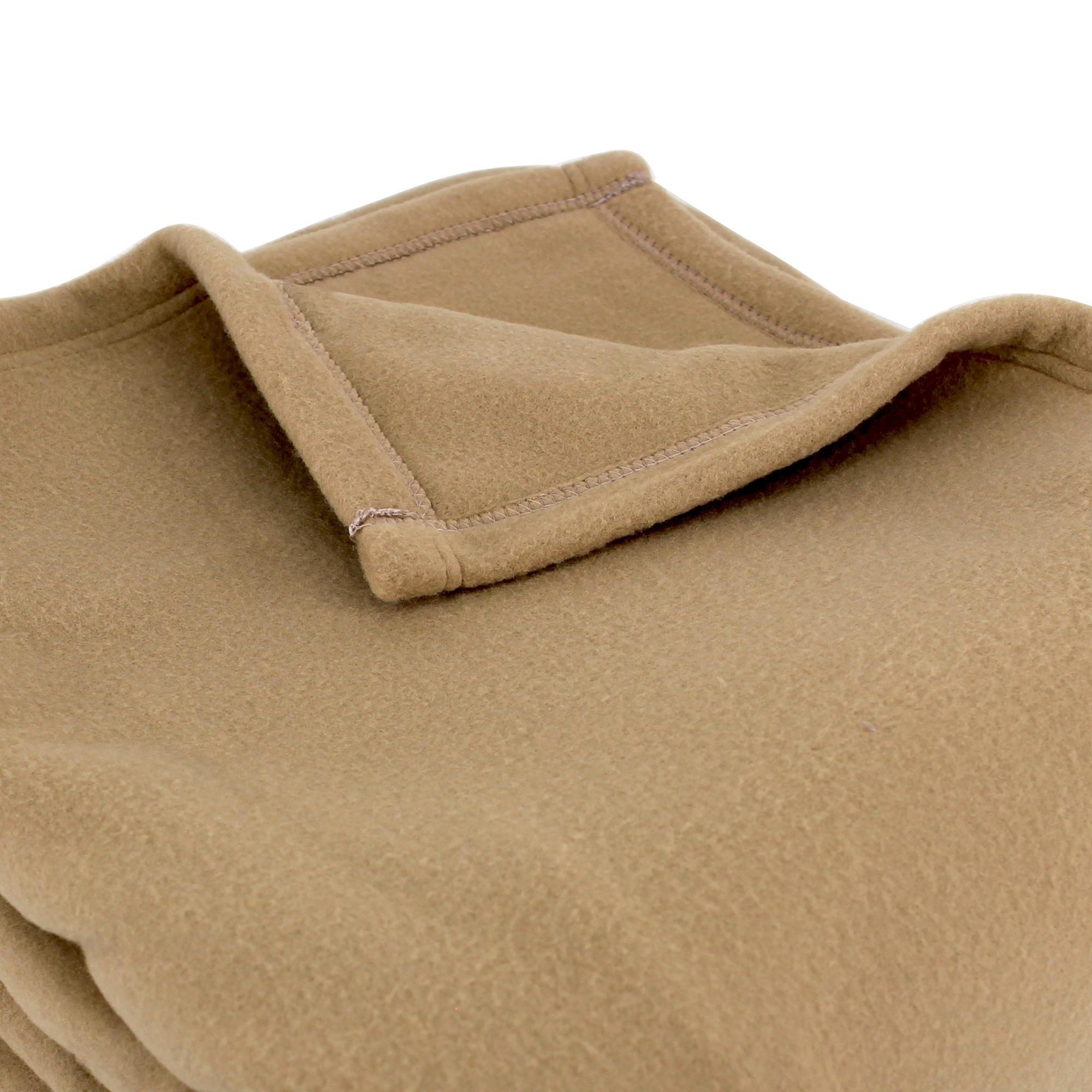 couverture polaire polyester 240x260 cm teddy sable linnea linge de maison et. Black Bedroom Furniture Sets. Home Design Ideas