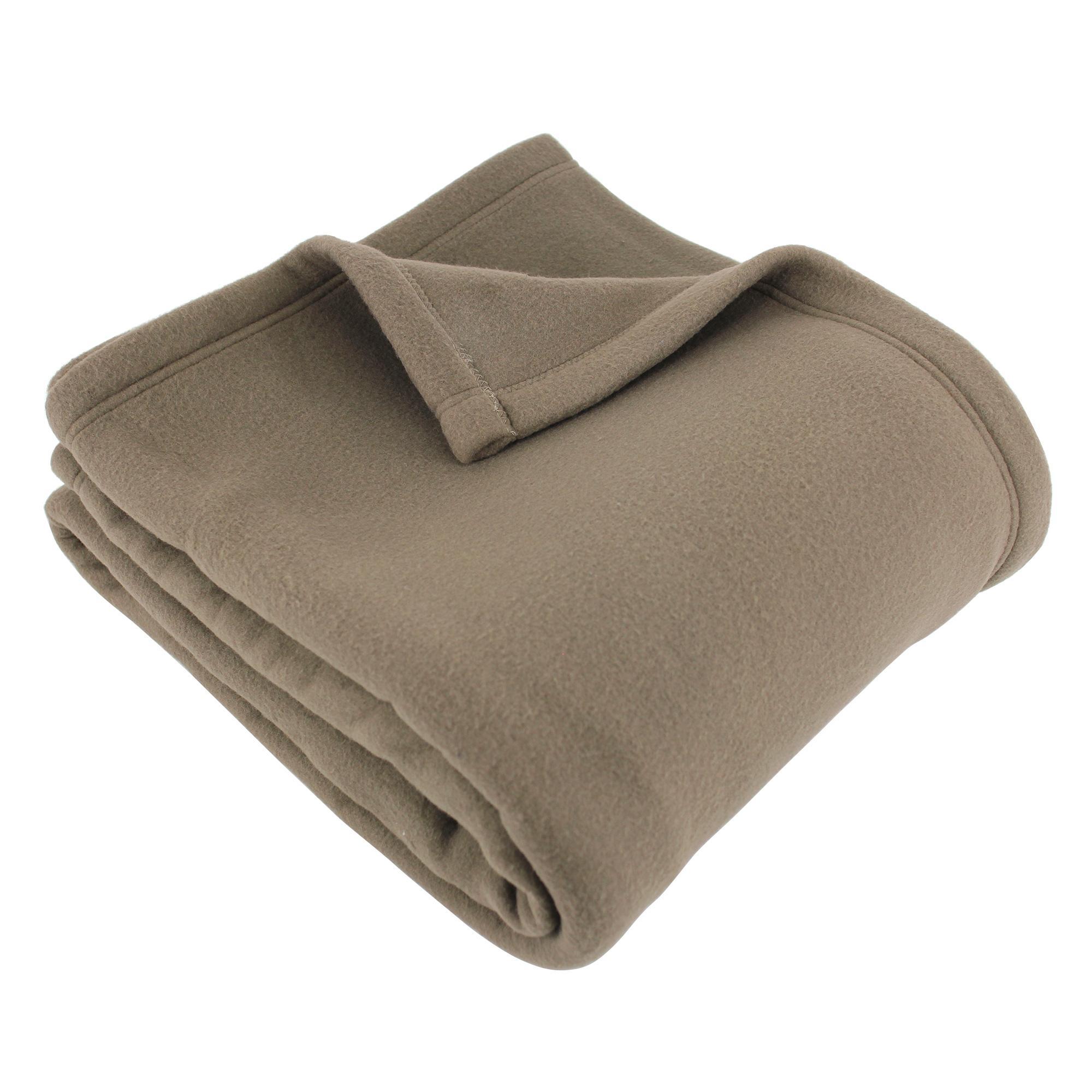 couverture polaire polyester 240x300 cm teddy taupe linnea linge de maison et. Black Bedroom Furniture Sets. Home Design Ideas