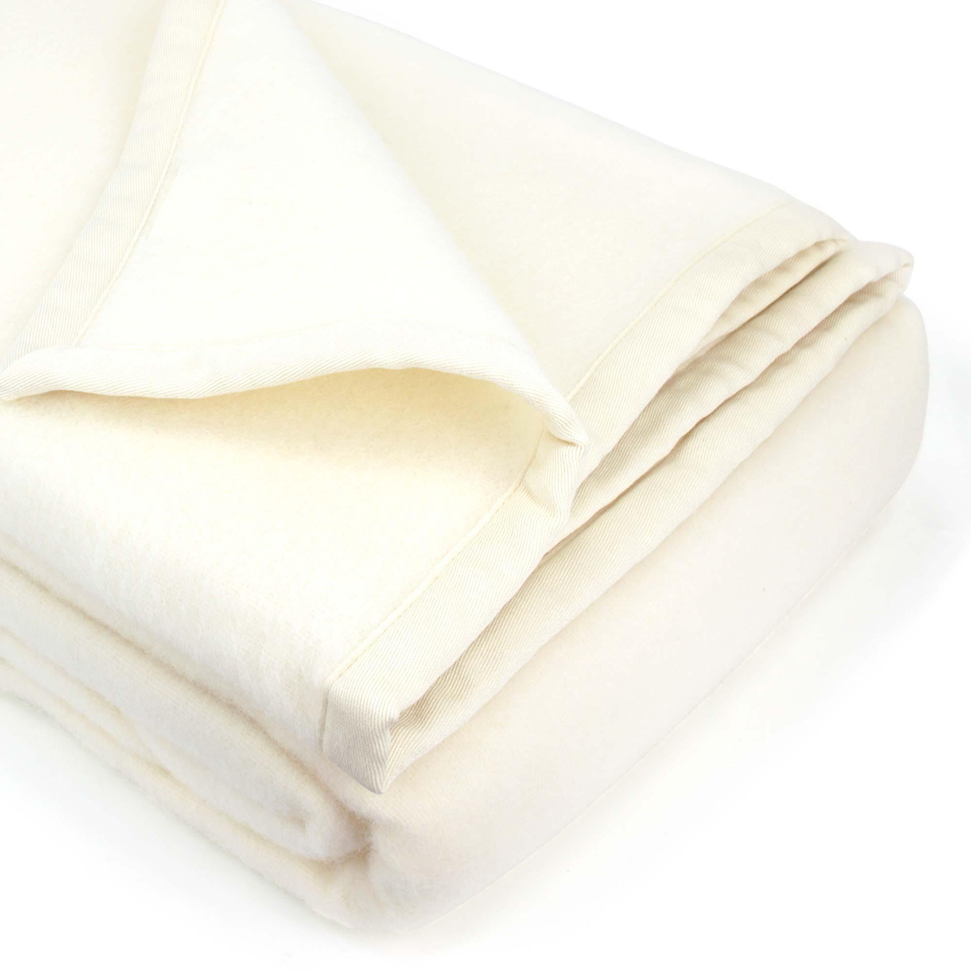 couverture 220x240 cm laine lambswool victoria naturel linnea linge de maison et. Black Bedroom Furniture Sets. Home Design Ideas