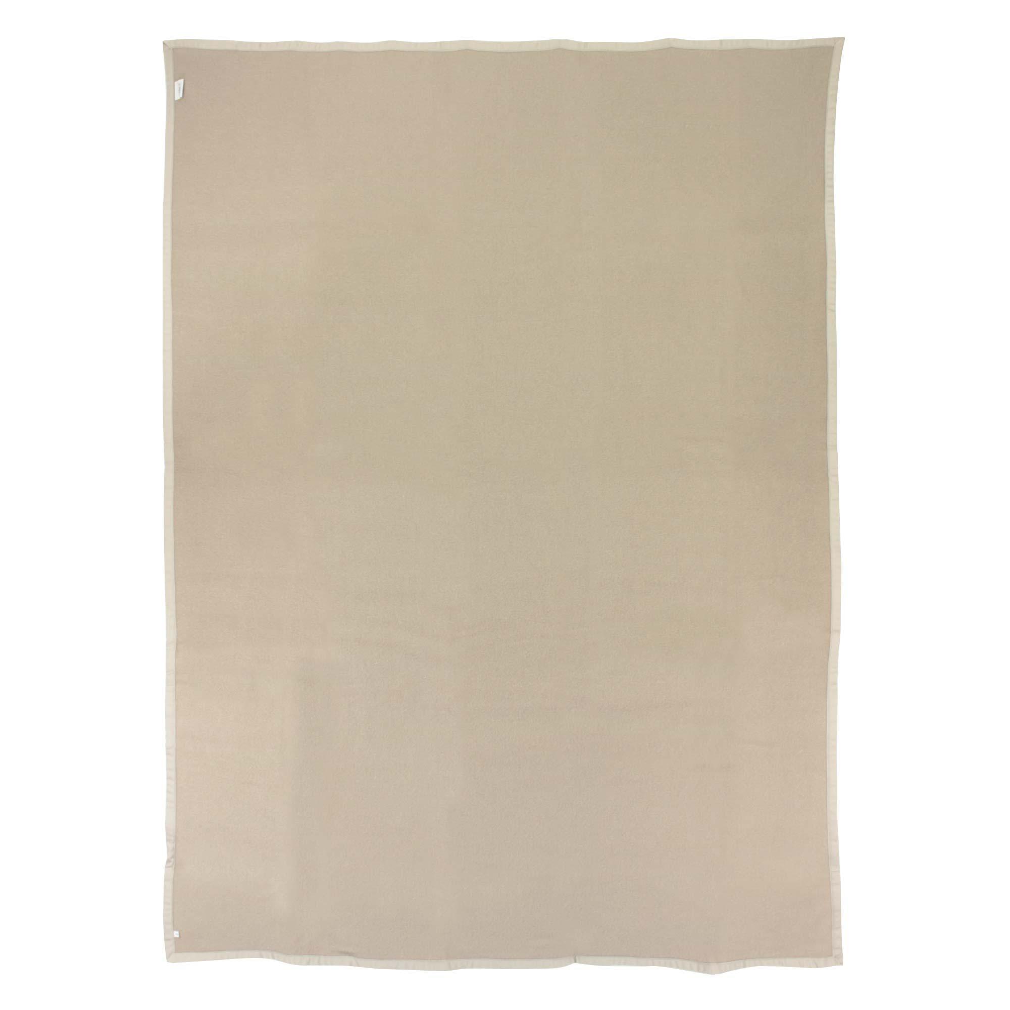 couverture 220x240 cm laine lambswool victoria tourterelle linnea linge de maison et. Black Bedroom Furniture Sets. Home Design Ideas