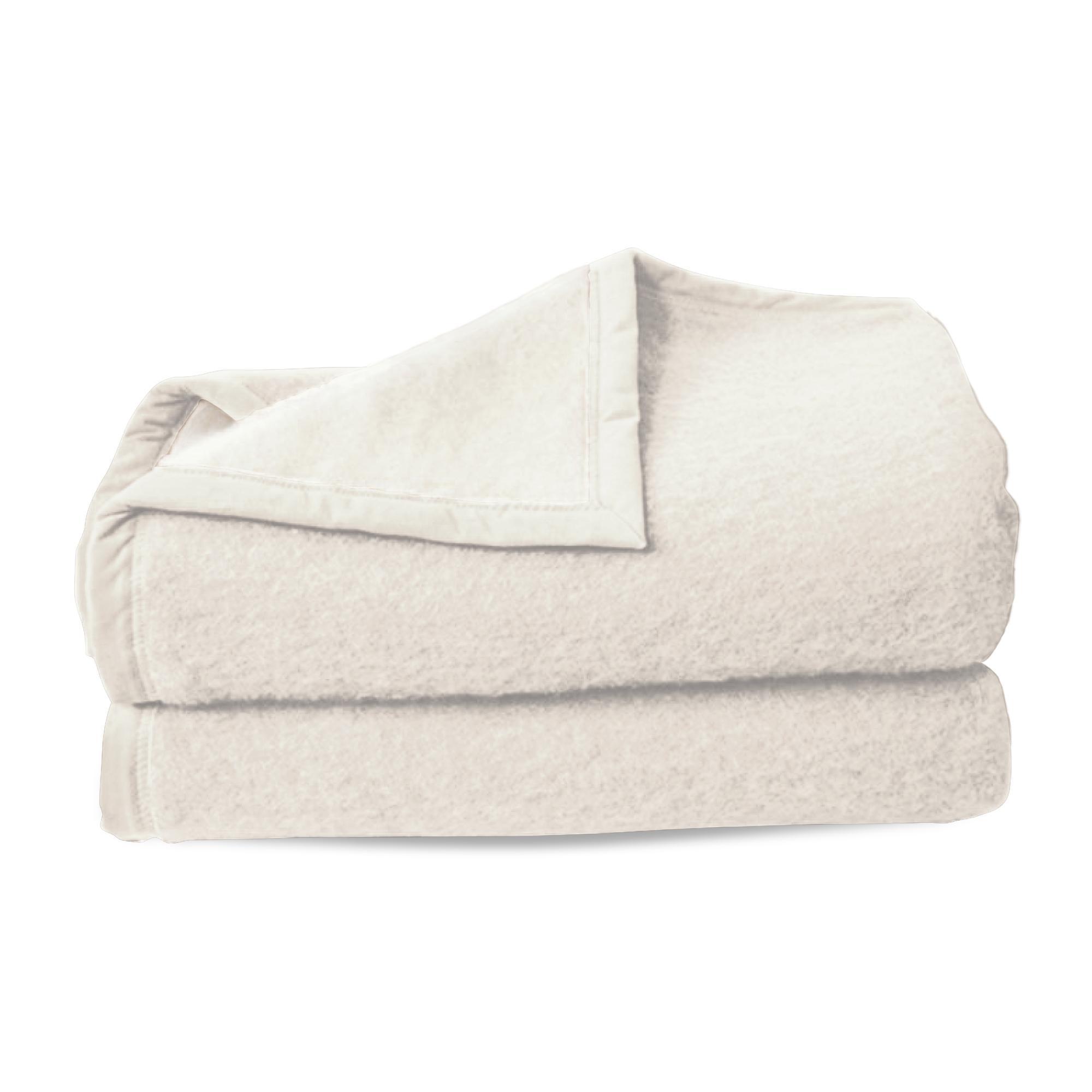 couverture pure laine vierge woolmark 600g m cybele 220x240cm blanc naturel linnea linge de. Black Bedroom Furniture Sets. Home Design Ideas