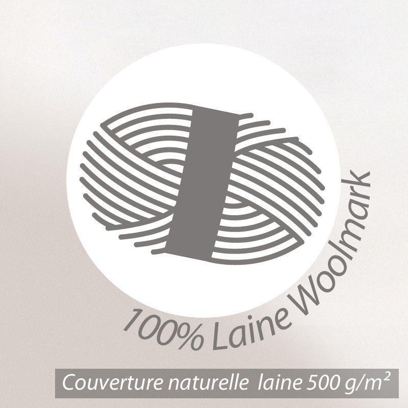couverture pure laine vierge woolmark 500g m volta 220x240 cm marron chamois linnea linge. Black Bedroom Furniture Sets. Home Design Ideas