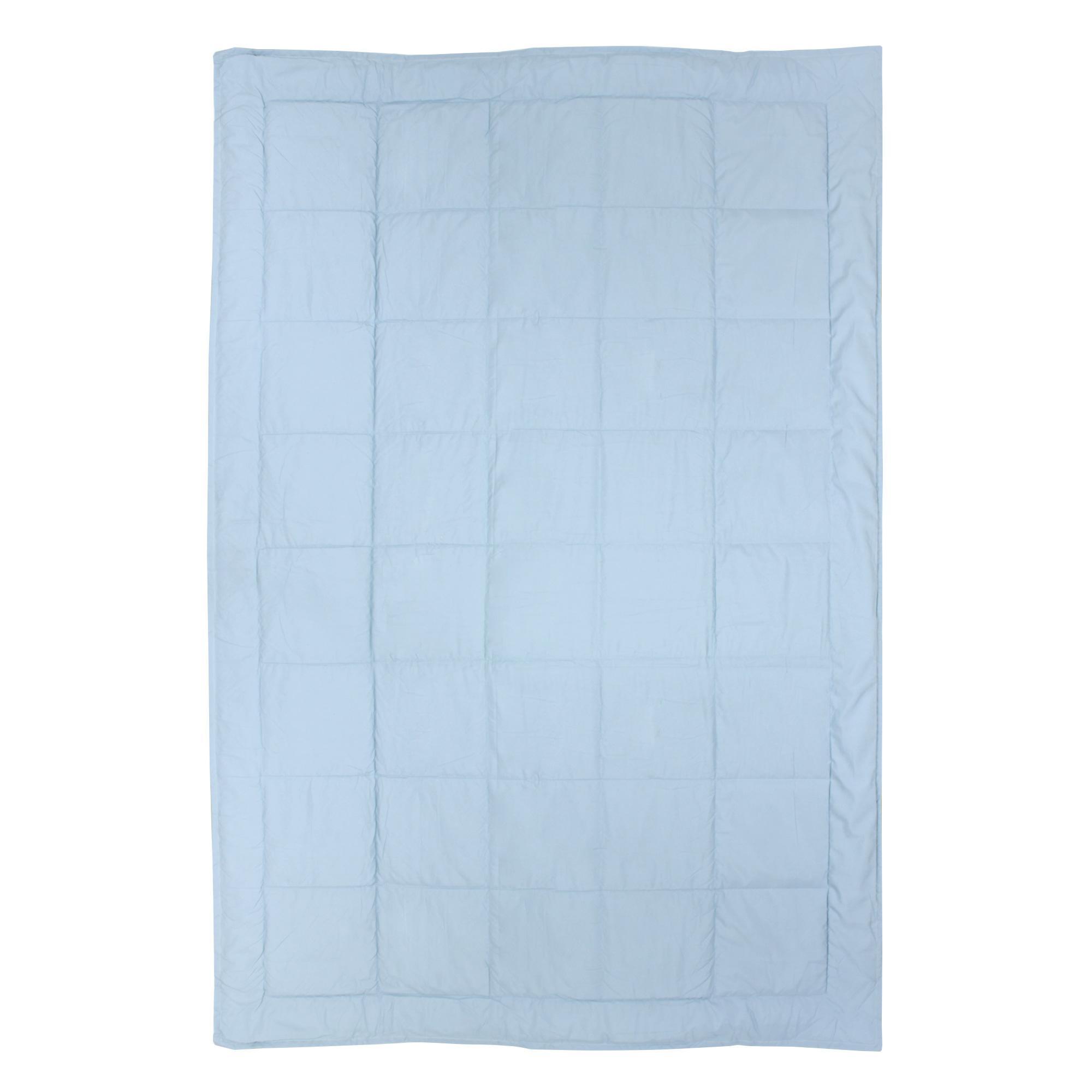 dessus de lit bicolore frisbee 160x240 cm bleu glacier pistache linnea linge de maison et. Black Bedroom Furniture Sets. Home Design Ideas