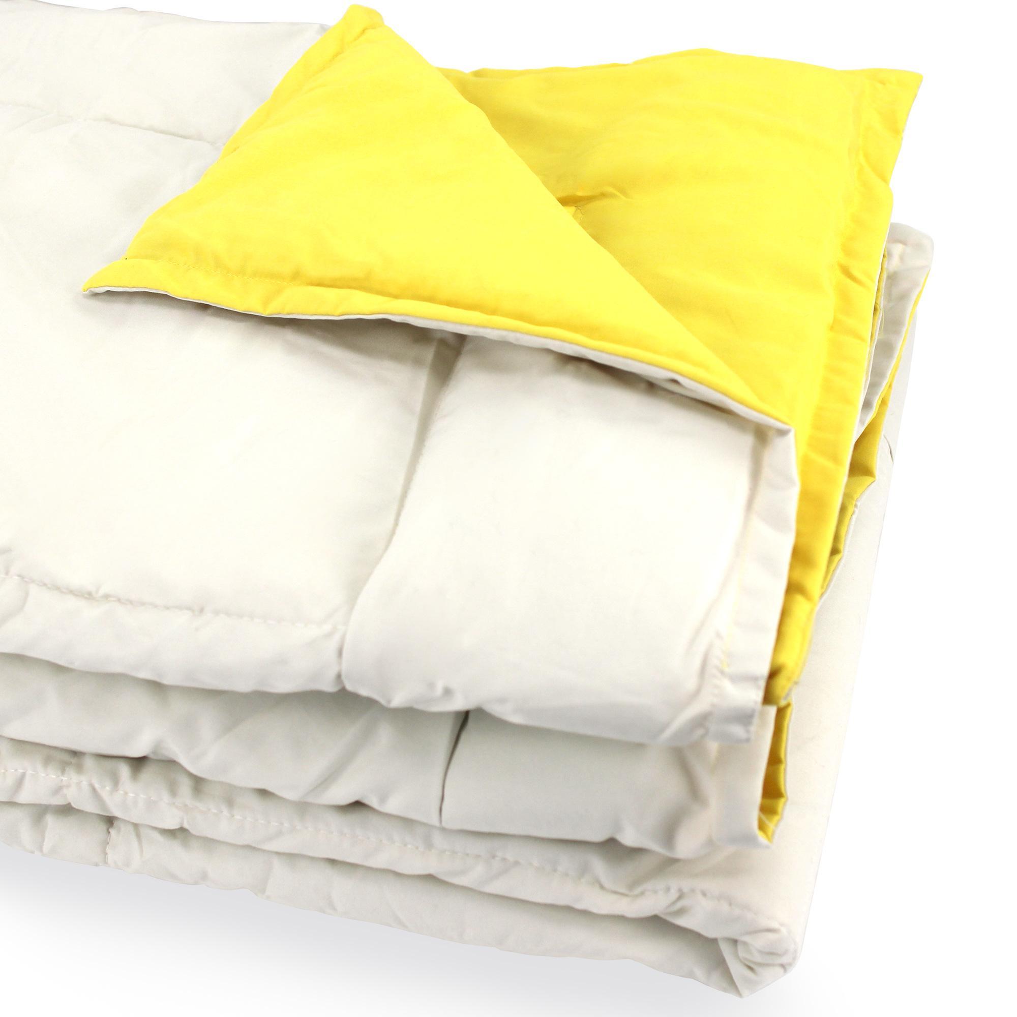 dessus de lit bicolore frisbee 160x240 cm cr me bouton d 39 or linnea linge de maison et. Black Bedroom Furniture Sets. Home Design Ideas