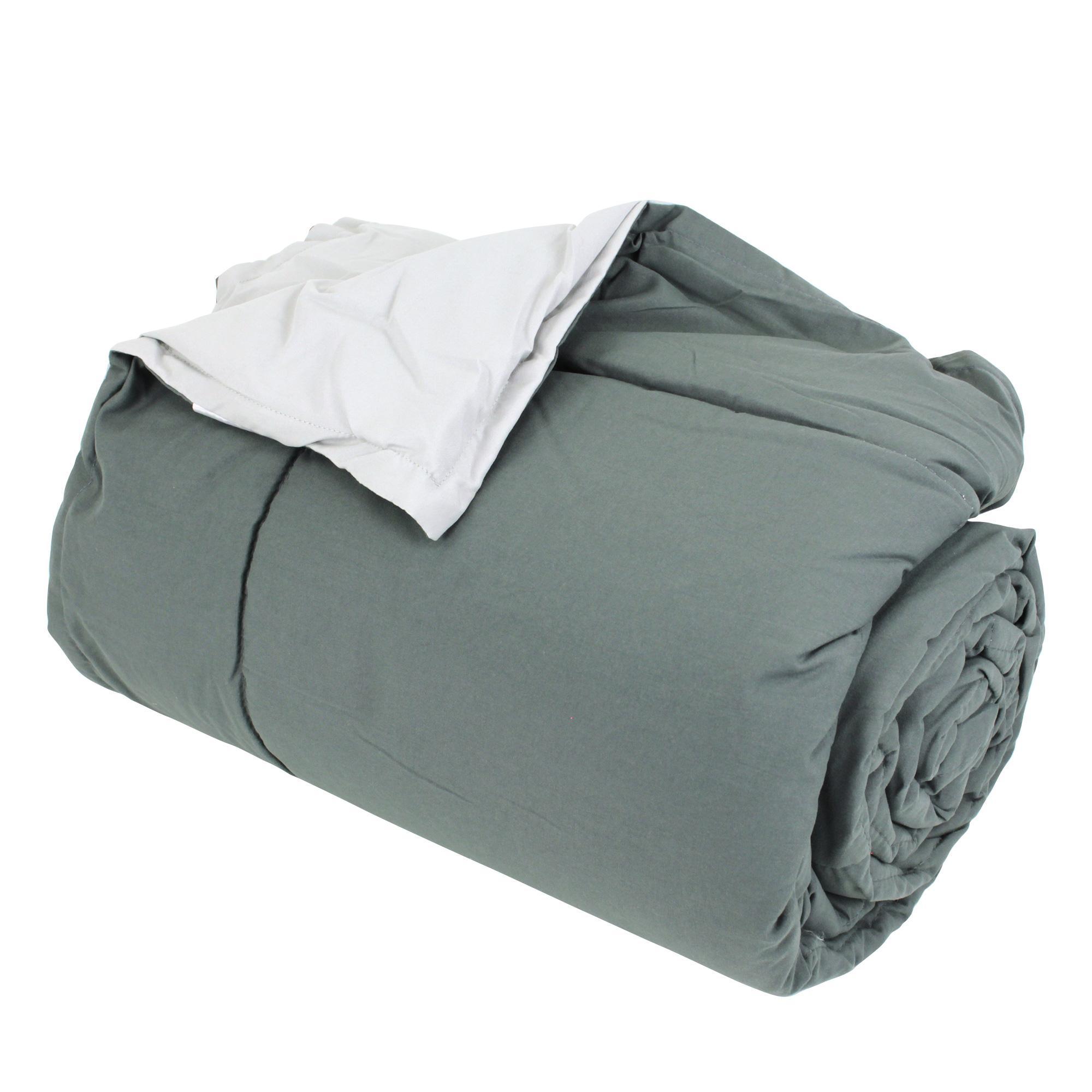 dessus de lit bicolore frisbee 220x240 cm acier perle linnea vente de linge de maison. Black Bedroom Furniture Sets. Home Design Ideas