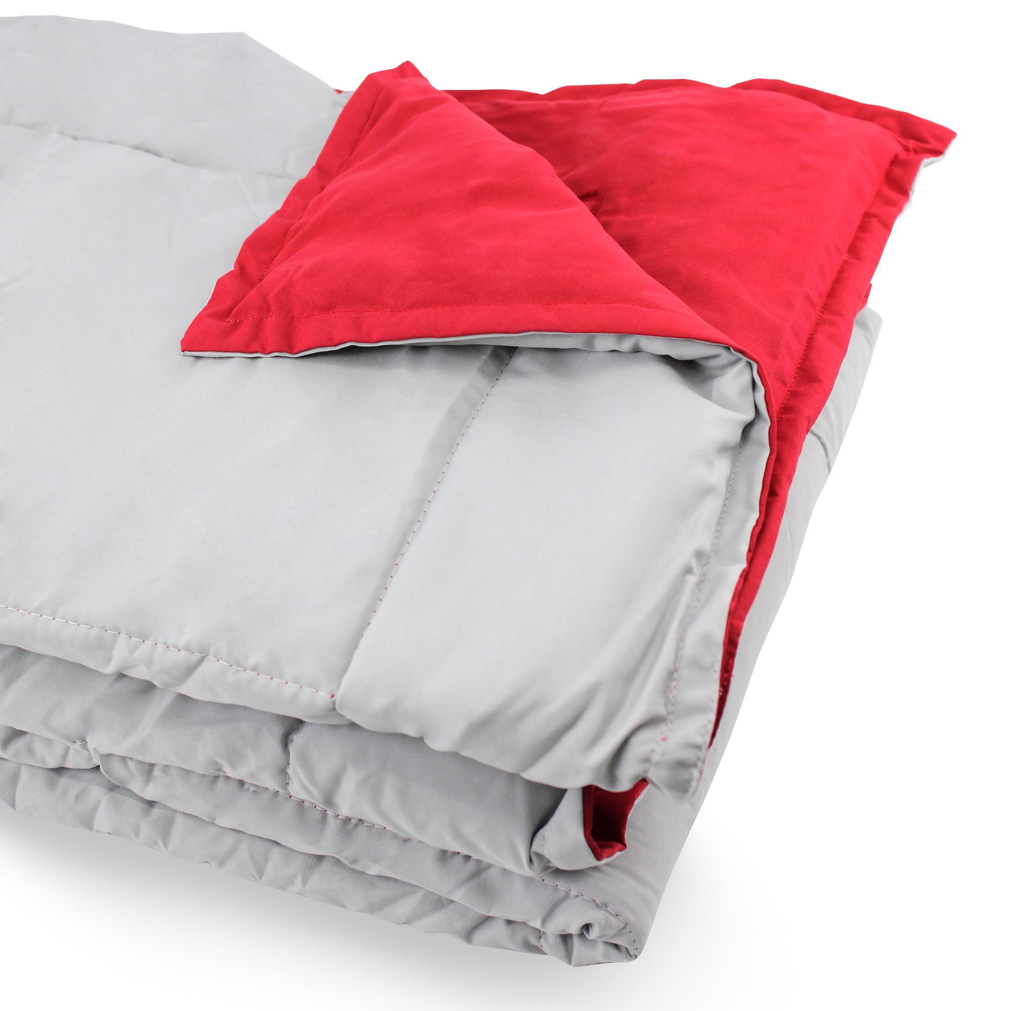 dessus de lit bicolore frisbee 220x240 cm perle groseille linnea linge de maison et. Black Bedroom Furniture Sets. Home Design Ideas