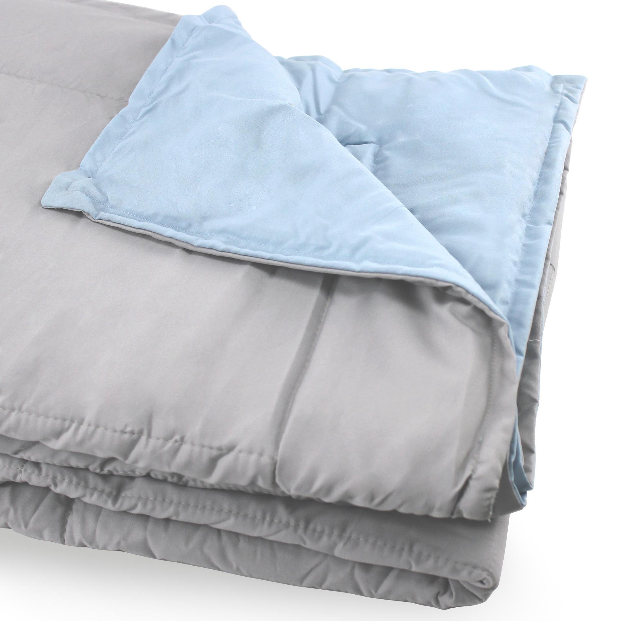 dessus de lit bicolore frisbee 240x260 cm perle bleu glacier linnea linge de maison et. Black Bedroom Furniture Sets. Home Design Ideas