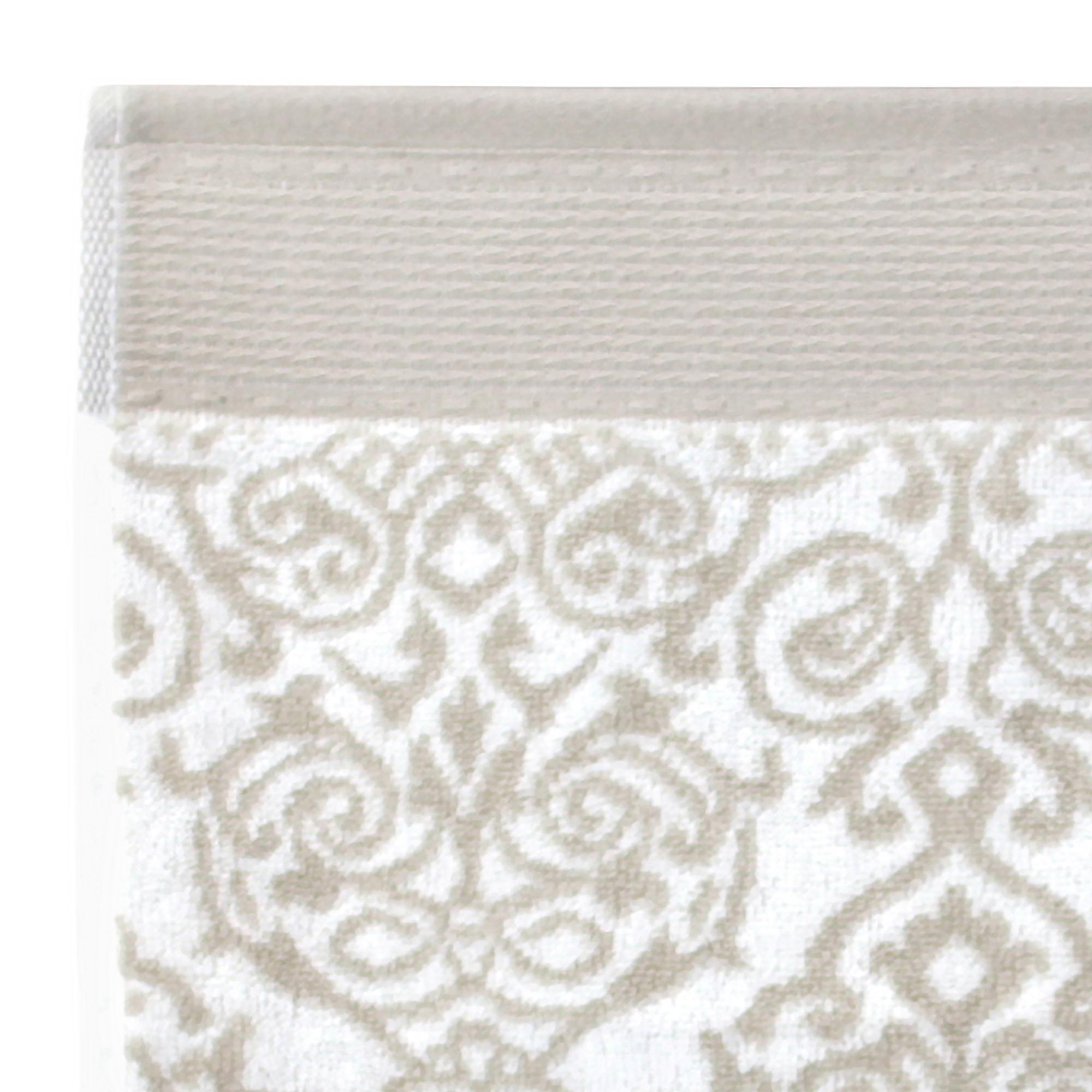 drap de bain 100x150 cm coton bolero floral gris linnea linge de maison et. Black Bedroom Furniture Sets. Home Design Ideas
