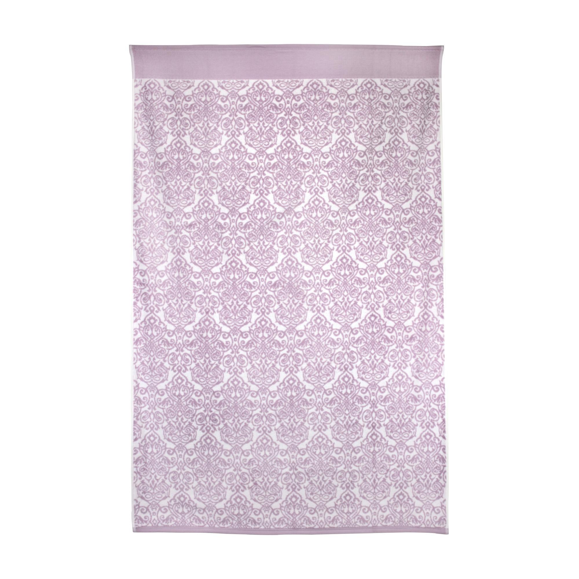 drap de bain 100x150 cm coton bolero floral rose linnea linge de maison et. Black Bedroom Furniture Sets. Home Design Ideas