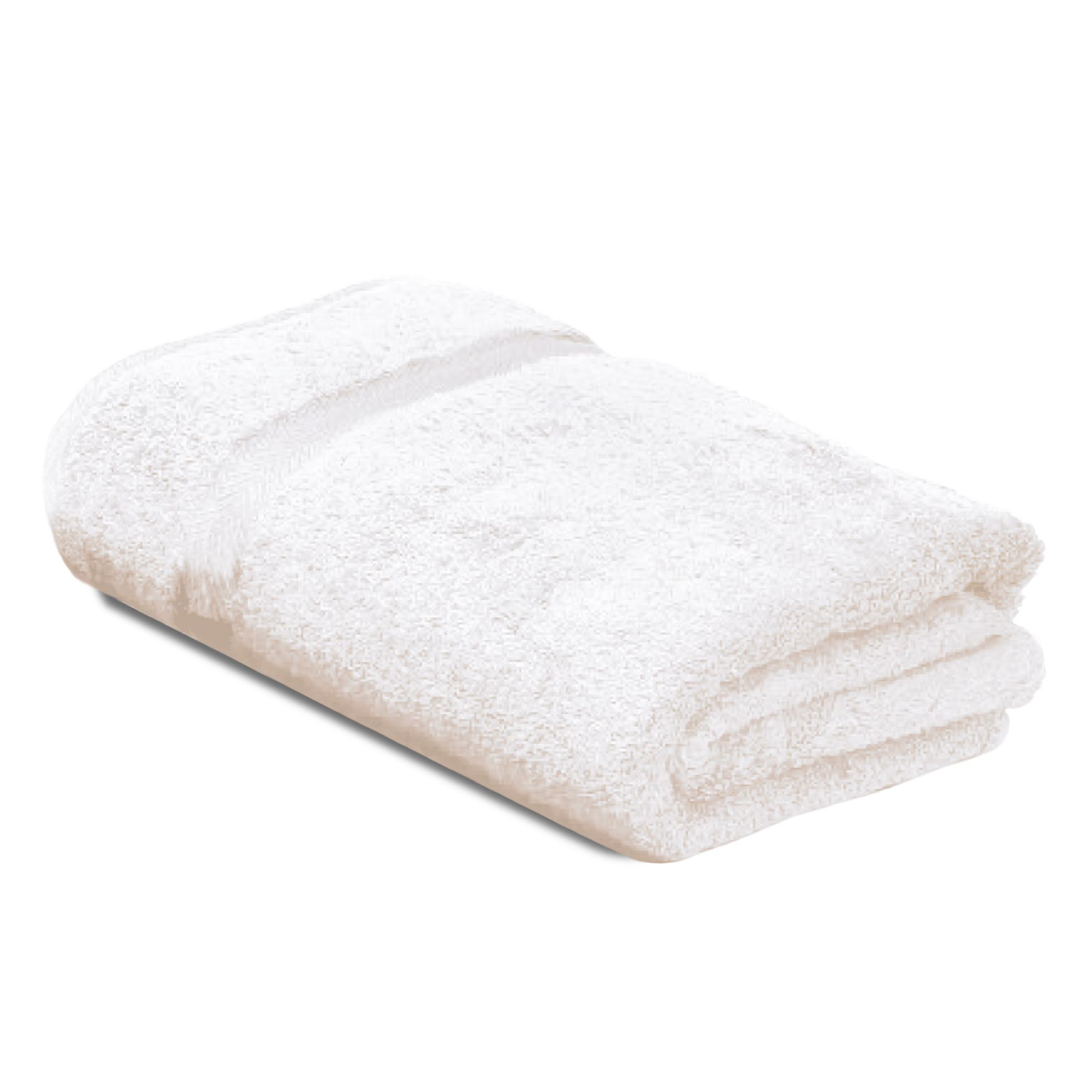 drap de bain 100x150 coton uni royal cresent blanc. Black Bedroom Furniture Sets. Home Design Ideas
