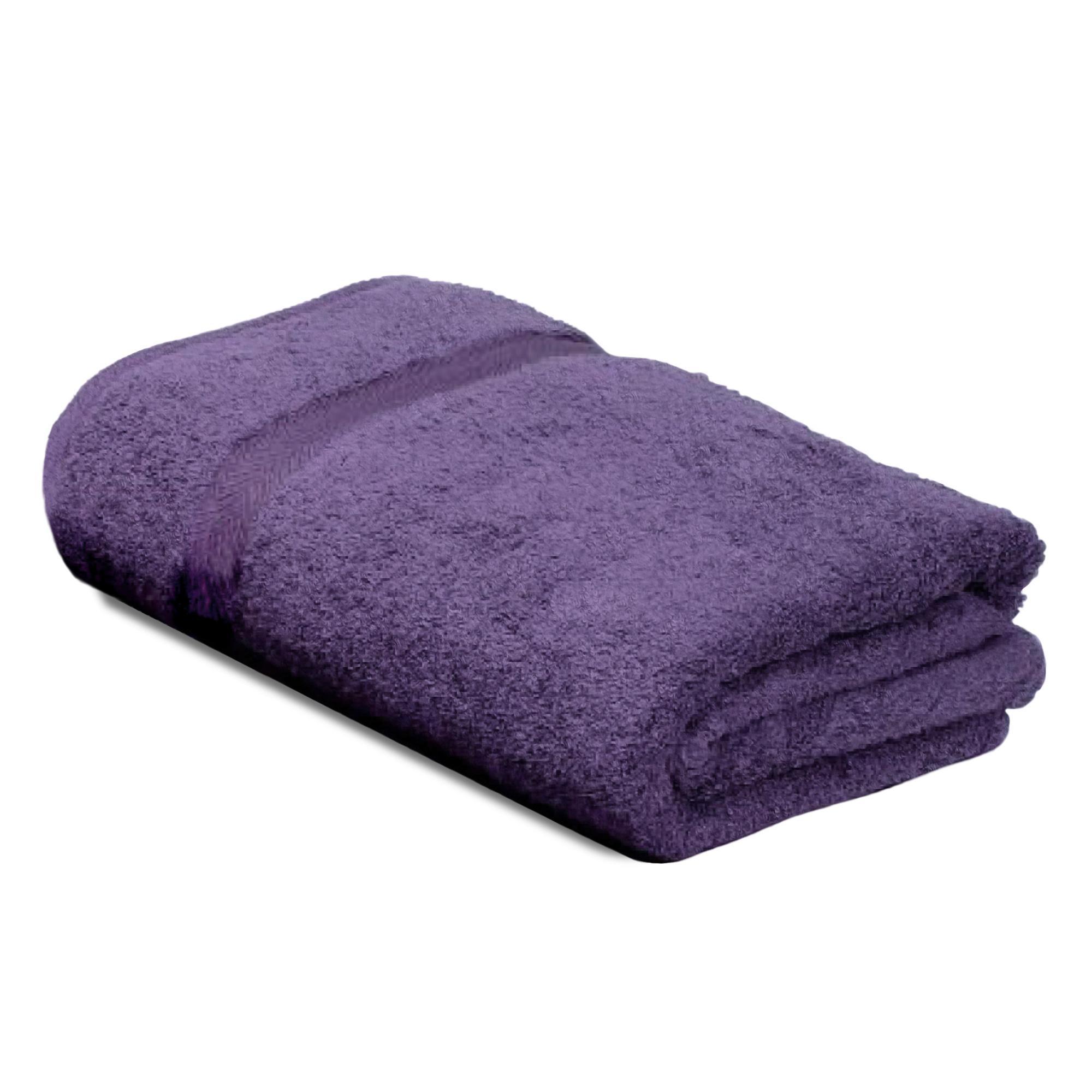 drap de bain 100x150 coton uni royal cresent violet prune linnea linge de maison et. Black Bedroom Furniture Sets. Home Design Ideas