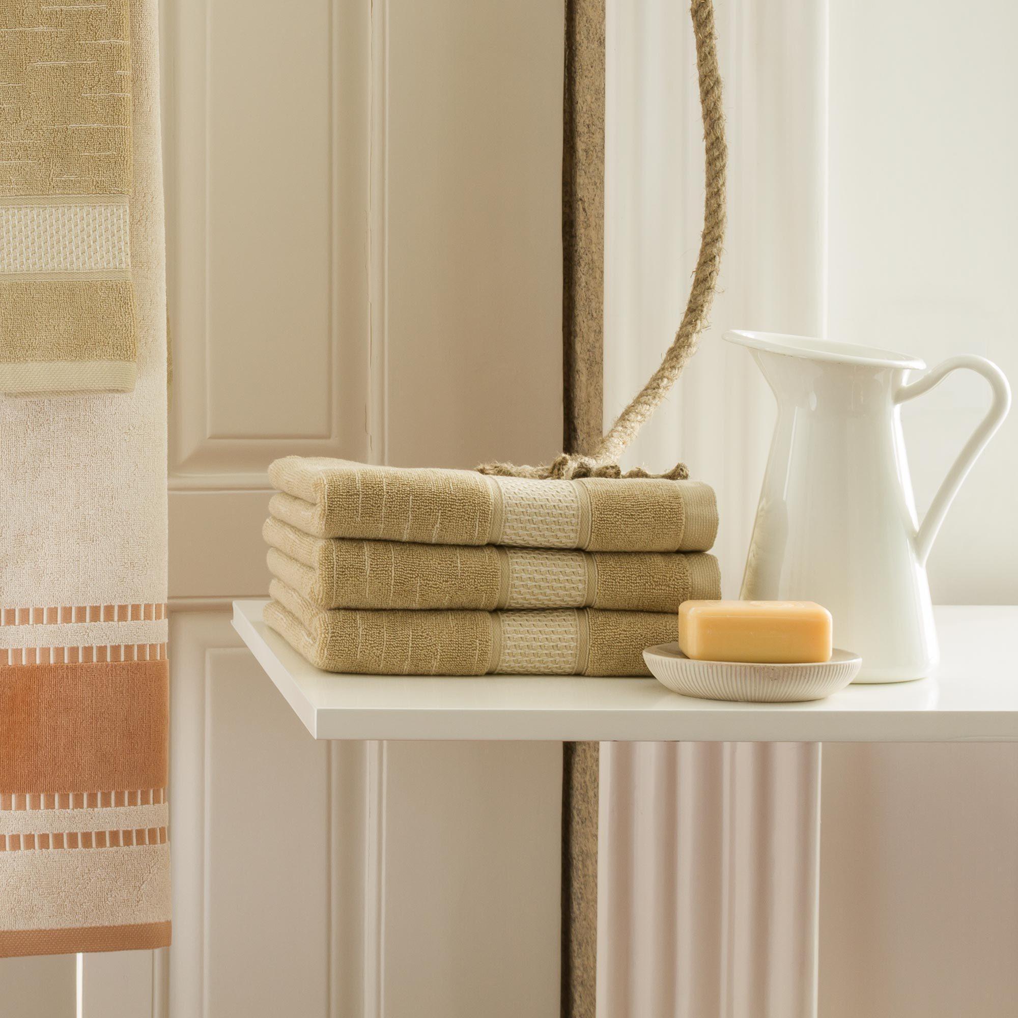 drap de bain 100x150cm coton bio ficus vert linnea linge de maison et. Black Bedroom Furniture Sets. Home Design Ideas