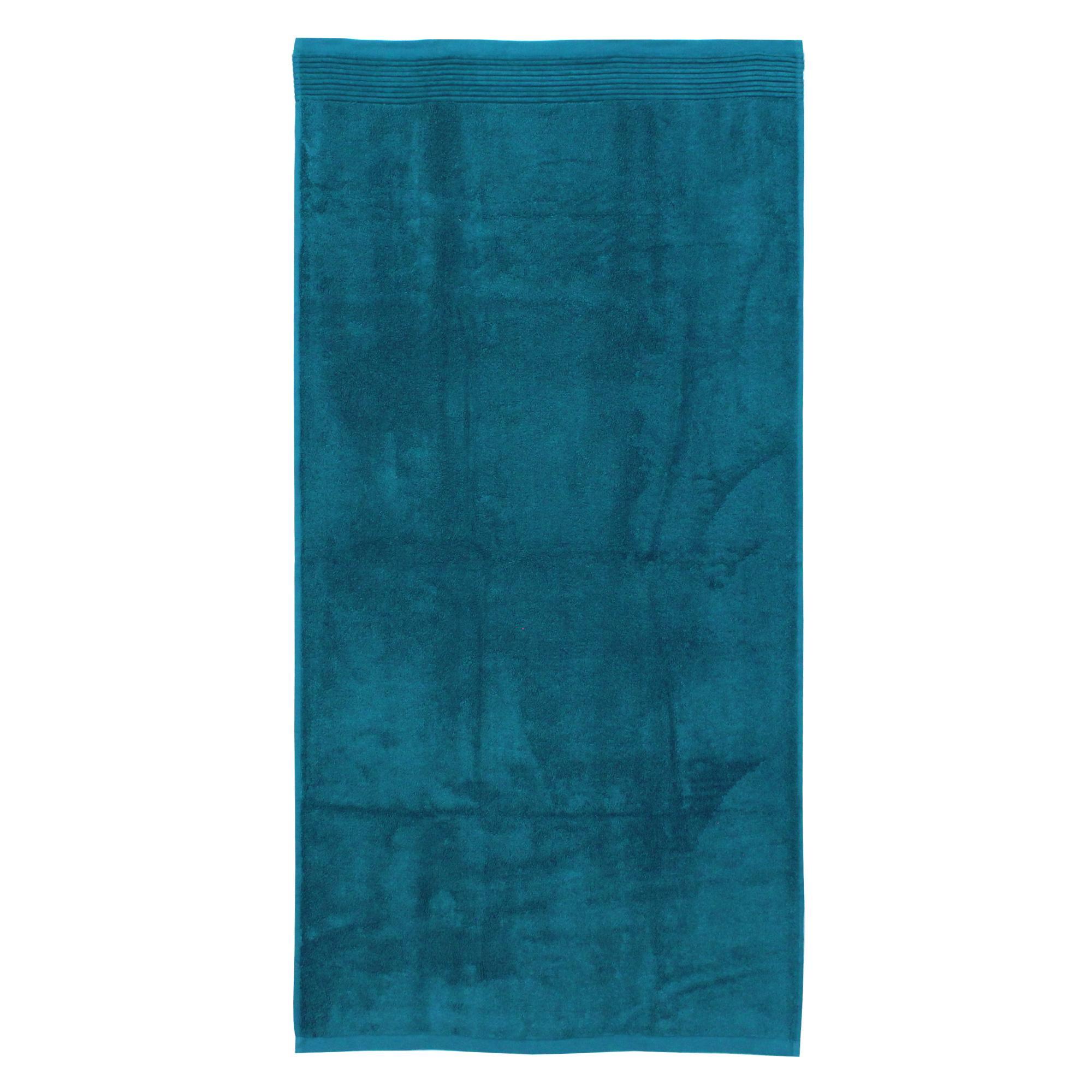 drap de bain 100x150 cm juliet bleu baltic 520 g m2 linnea linge de maison et. Black Bedroom Furniture Sets. Home Design Ideas