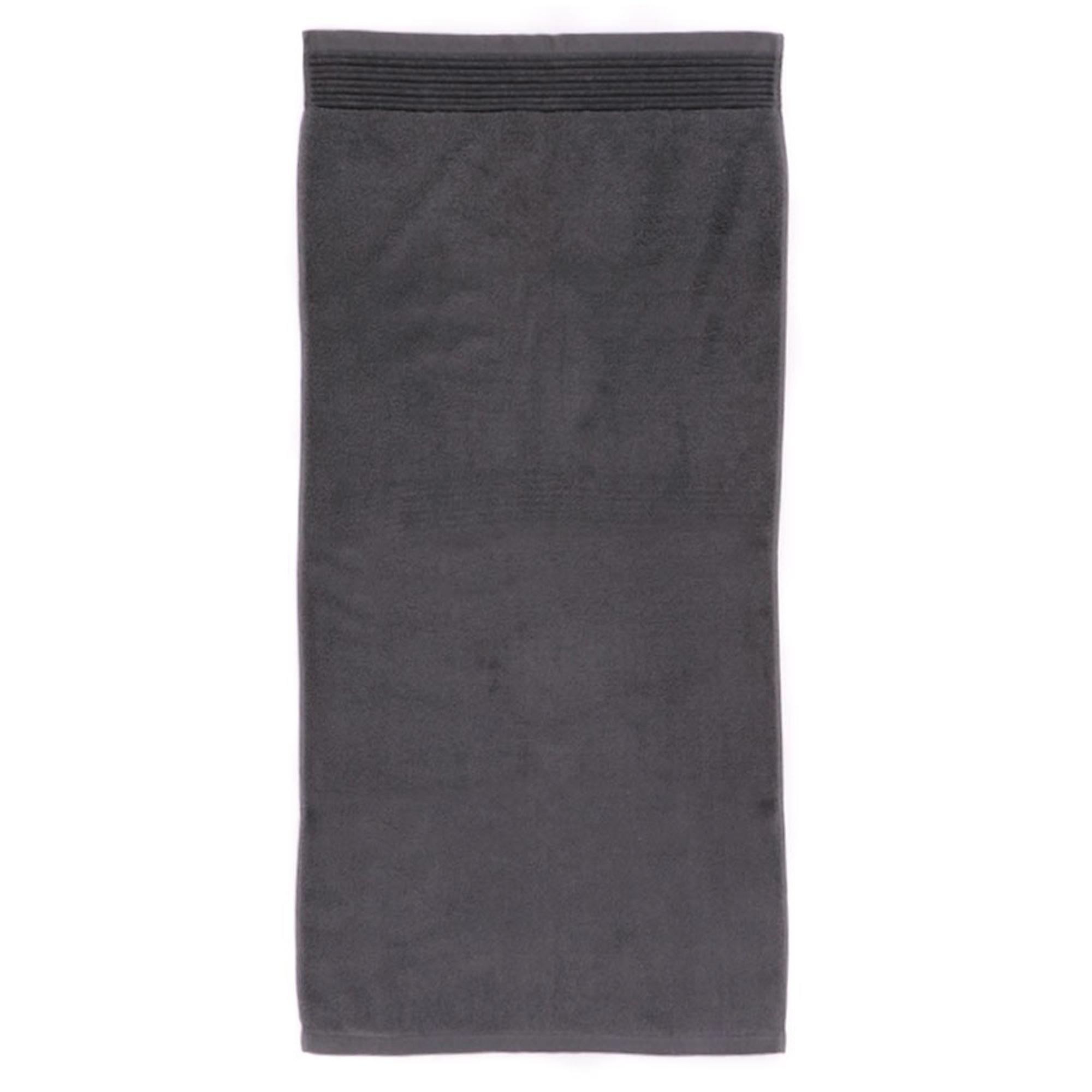 drap de bain 100x150 juliet anthracite 520g m2 ebay. Black Bedroom Furniture Sets. Home Design Ideas