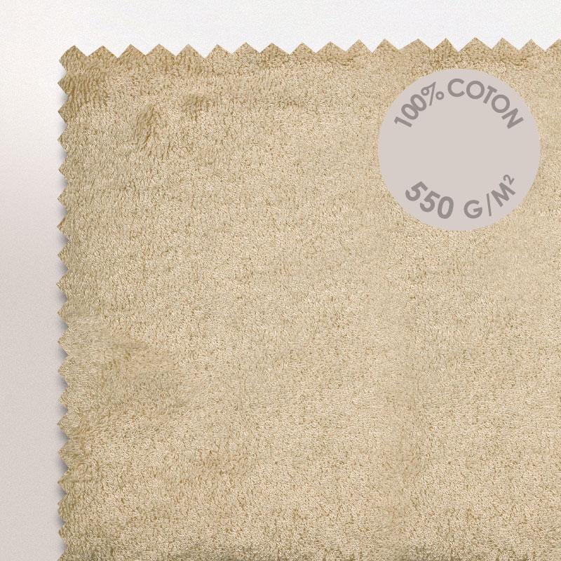 drap de bain 100x150cm coton uni pure beige linnea linge de maison et. Black Bedroom Furniture Sets. Home Design Ideas