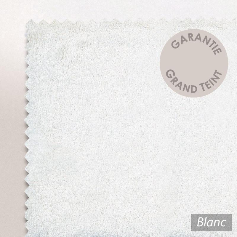 drap de bain 100x150cm coton uni pure blanc linnea linge de maison et. Black Bedroom Furniture Sets. Home Design Ideas