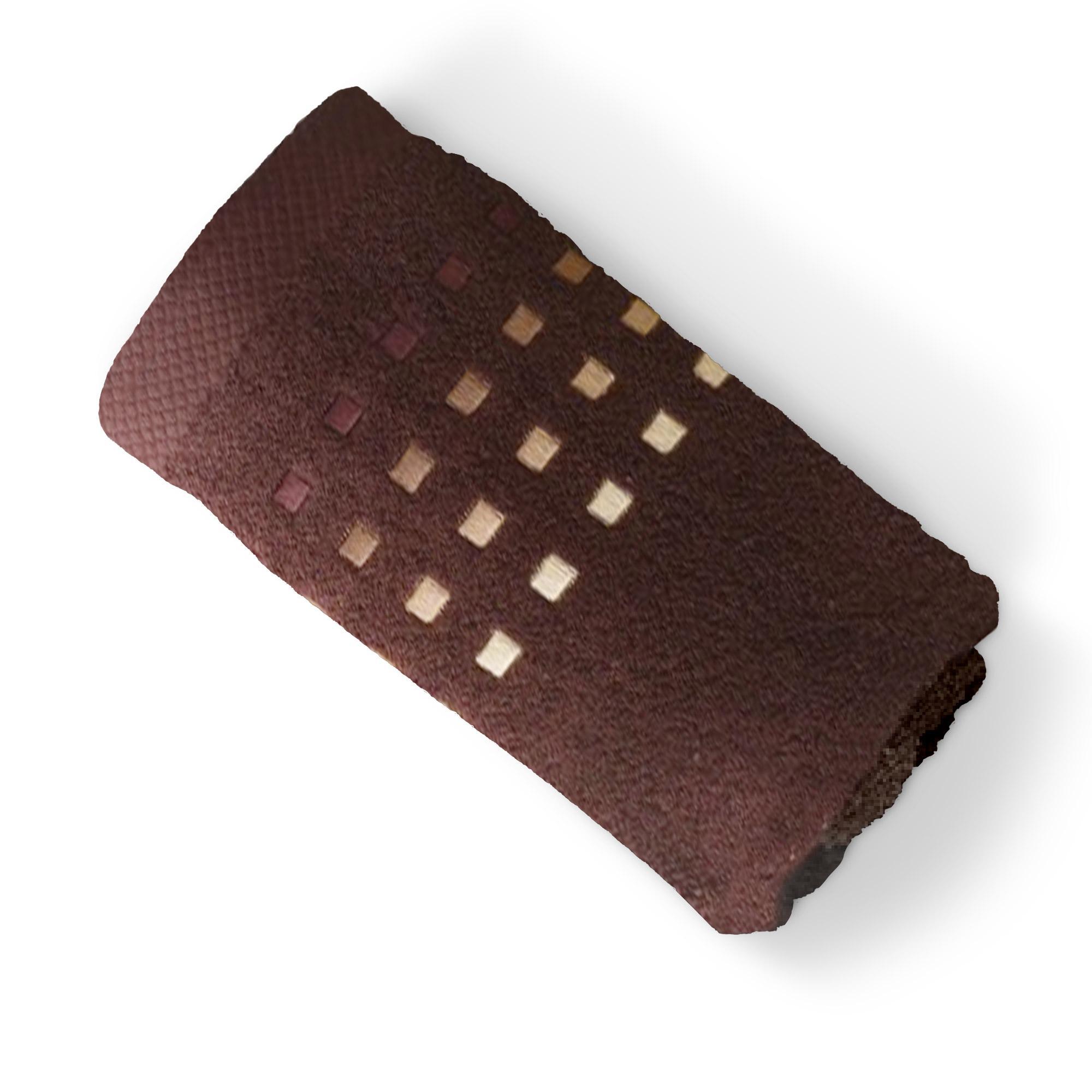 drap de bain 100x150cm uni coton pure squares marron linnea linge de maison et. Black Bedroom Furniture Sets. Home Design Ideas
