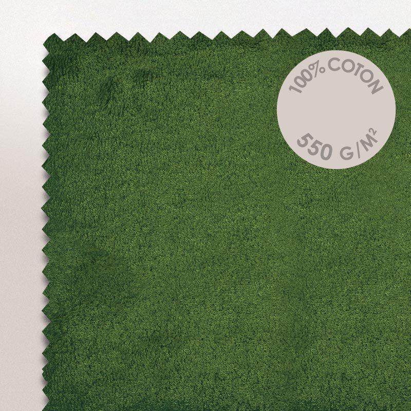 Drap De Bain 100X150Cm Coton Uni Pure Vert Kaki   Linnea Vente De