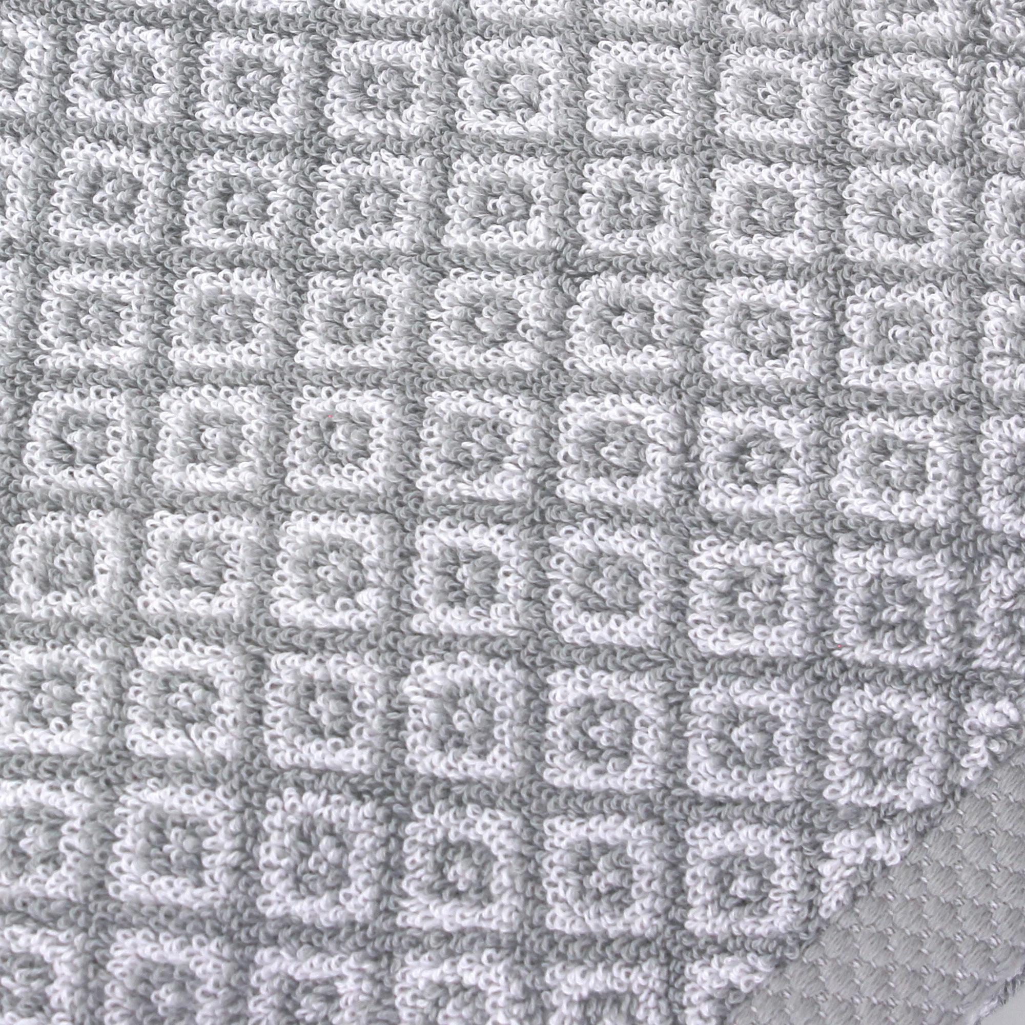 drap de bain 100x150 shibori mosaic gris 100 coton 500g m2 ebay. Black Bedroom Furniture Sets. Home Design Ideas