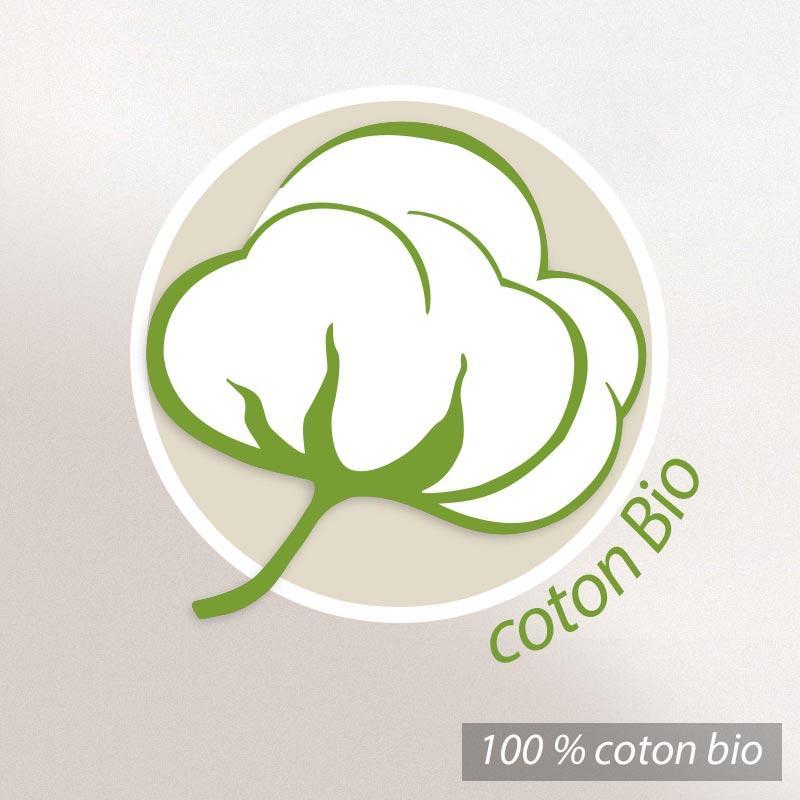 Drap de bain 90x200cm coton bio ficus vert linnea vente for Drap housse coton bio 90x200