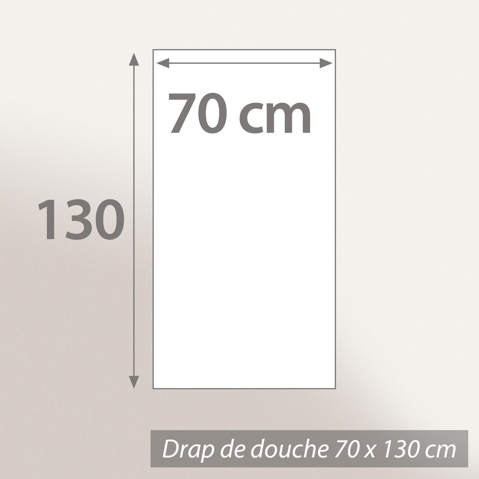 drap de douche 70x130 cm hirsh blanc rouge 600 g m2 linnea vente de linge de maison. Black Bedroom Furniture Sets. Home Design Ideas