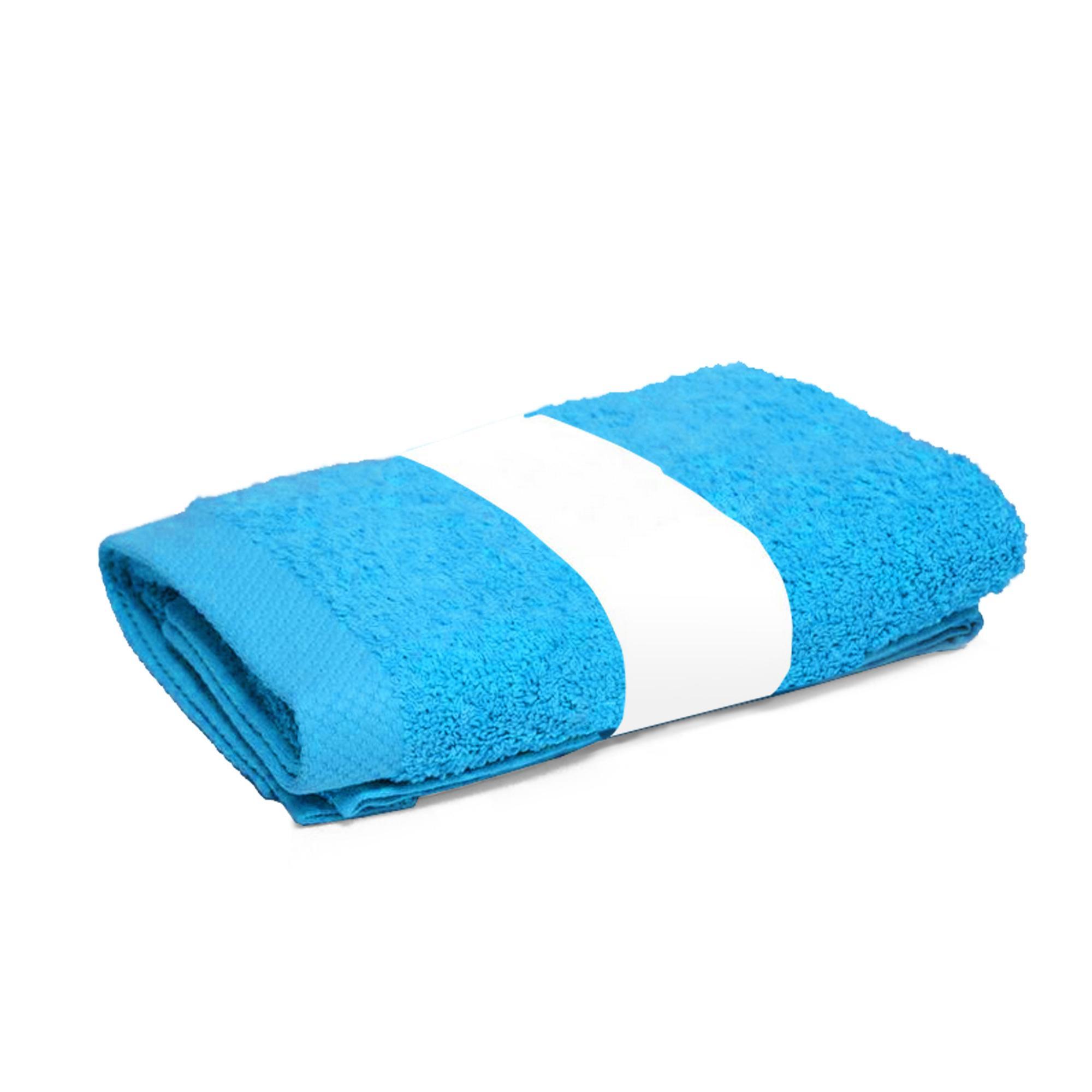 drap de douche 70x140cm coton uni pure bleu ocean linnea. Black Bedroom Furniture Sets. Home Design Ideas
