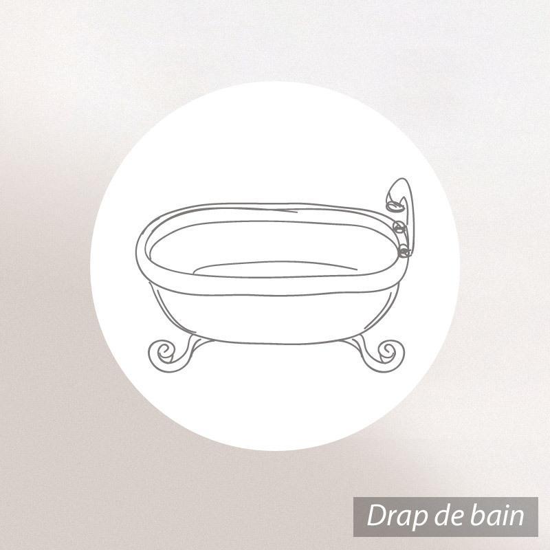 Drap-de-douche-70x140-nid-d-039-abeille-PURE-WAFFLE-300-g-m-noir