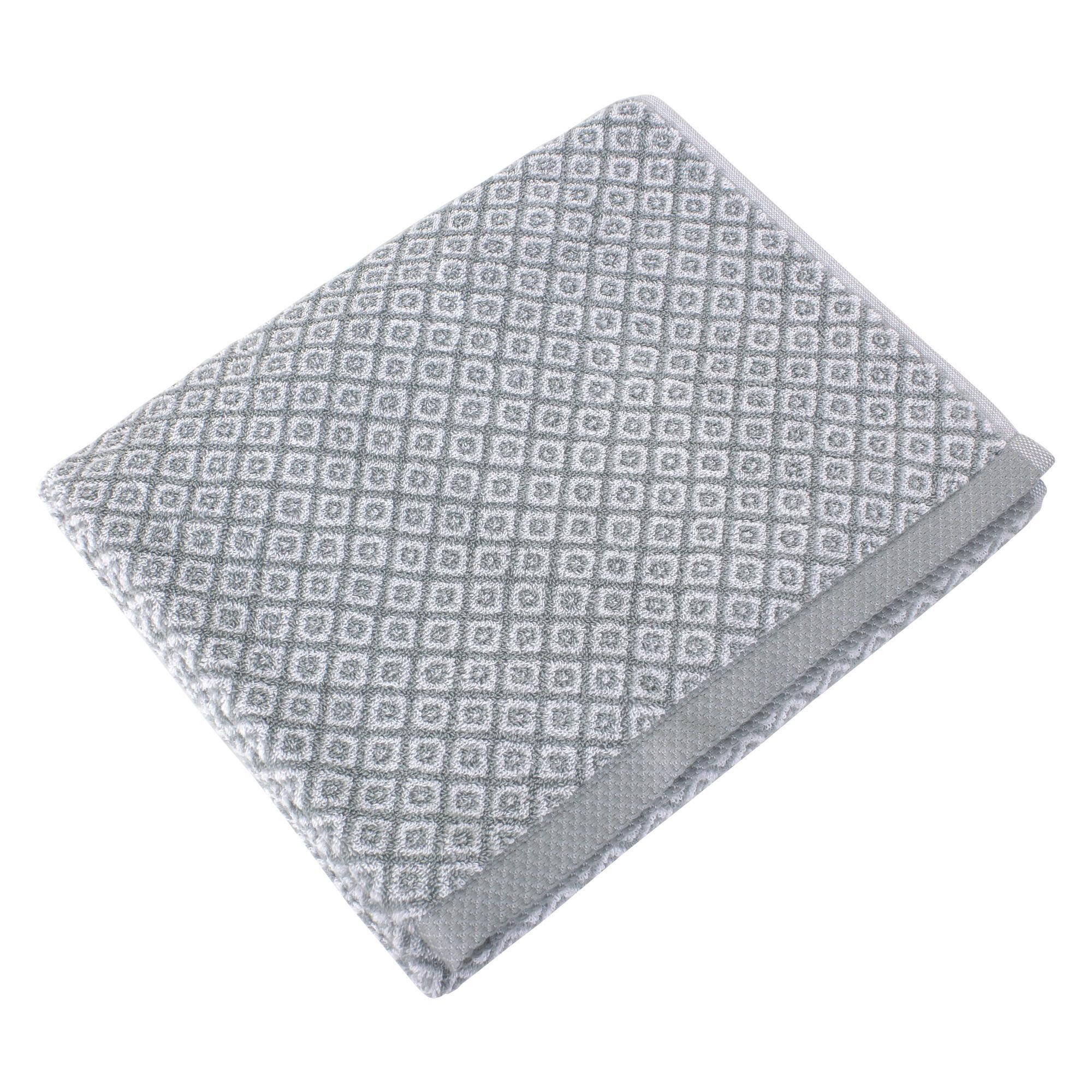 drap de douche 70x140 cm coton shibori mosaic gris linnea linge de maison et. Black Bedroom Furniture Sets. Home Design Ideas