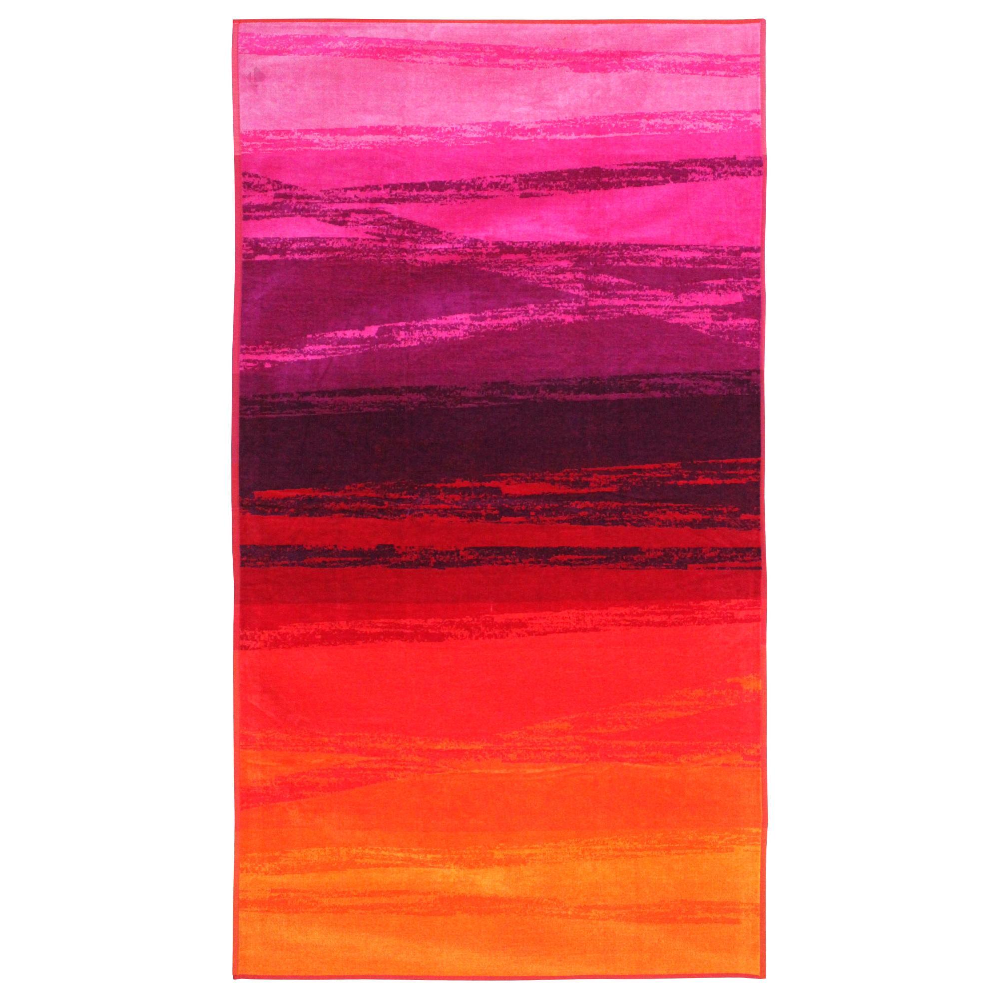 drap de plage 100x180 cm riu d grad de rouge et violet linnea linge de maison et. Black Bedroom Furniture Sets. Home Design Ideas