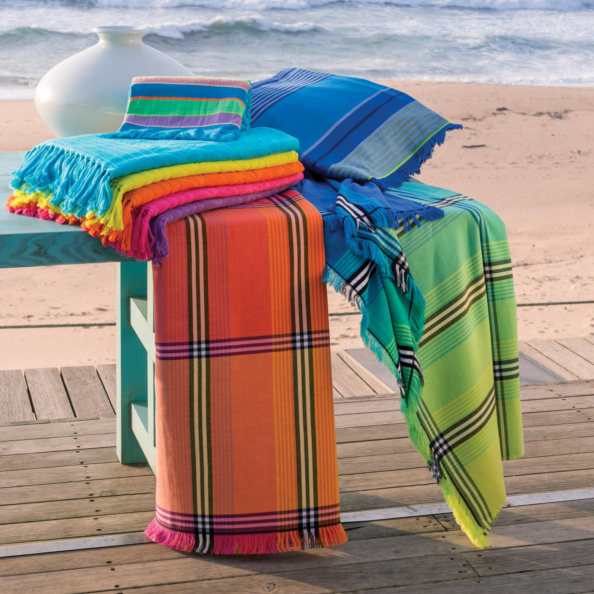 drap de plage fouta 100x180 100 coton 270 g m vallevo. Black Bedroom Furniture Sets. Home Design Ideas