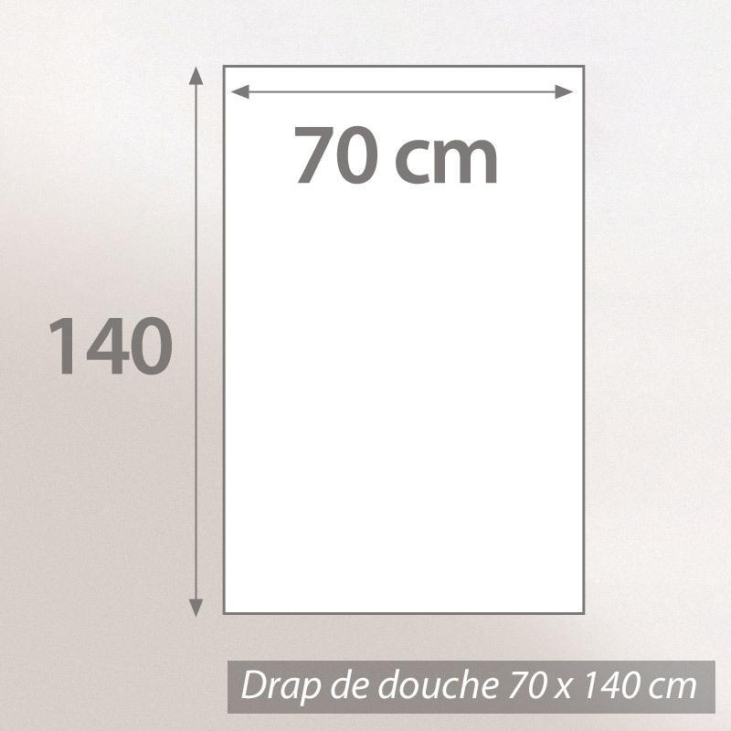Drap-de-douche-70x140-BOLERO-FLORAL-Bleu-520g-m2
