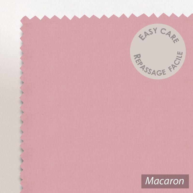 drap housse 100x200cm uni pur coton alto rose macaron linnea linge de maison et. Black Bedroom Furniture Sets. Home Design Ideas