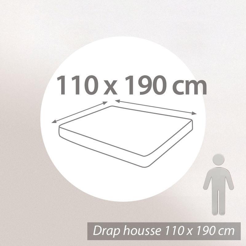 drap housse 110x190cm uni pur coton alto violet violine linnea linge de maison et. Black Bedroom Furniture Sets. Home Design Ideas