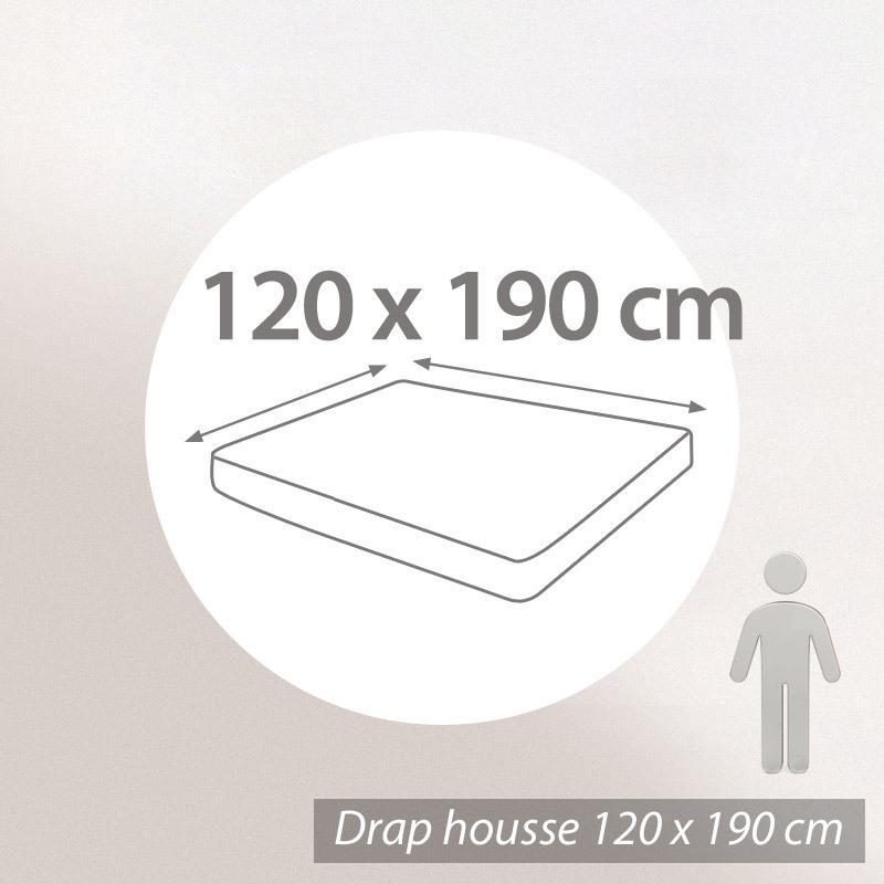 drap housse 120x190cm uni pur coton alto marron mangan se linnea linge de maison et. Black Bedroom Furniture Sets. Home Design Ideas
