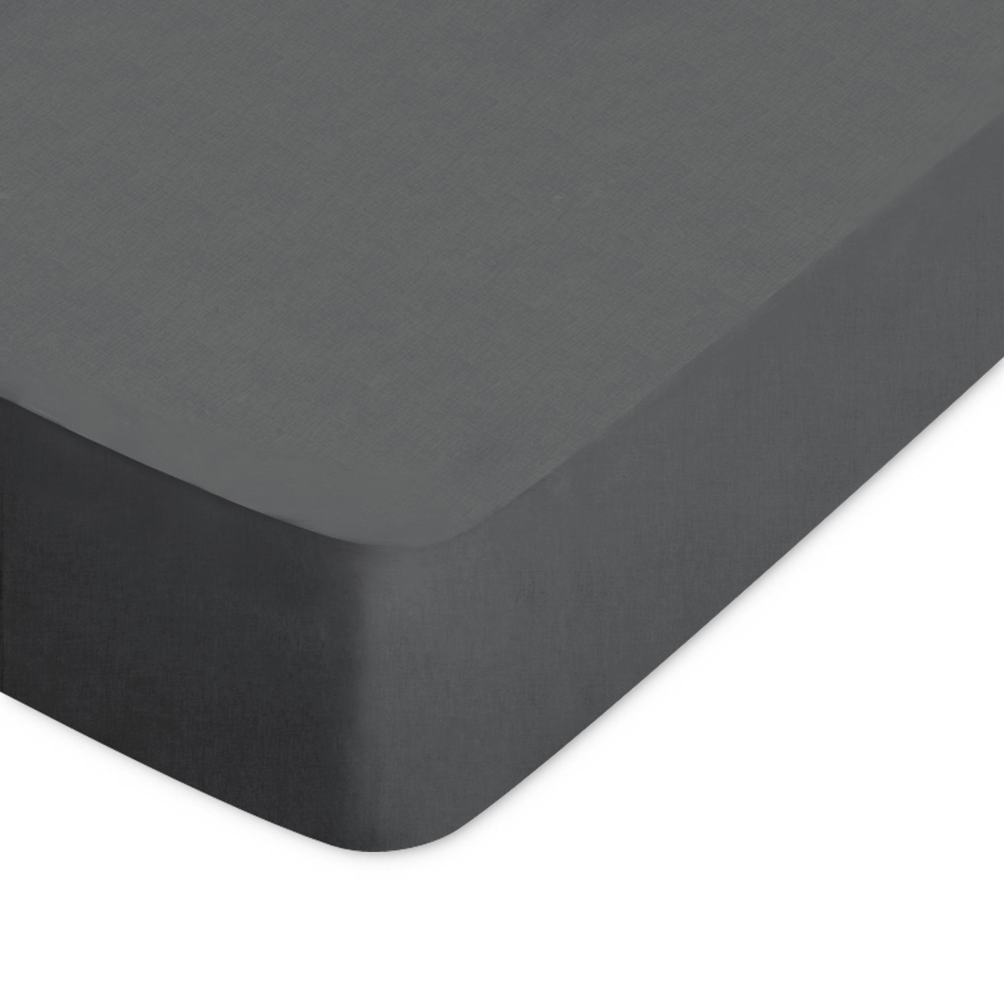 drap housse 120x200cm uni pur coton alto gris manhattan linnea linge de maison et. Black Bedroom Furniture Sets. Home Design Ideas