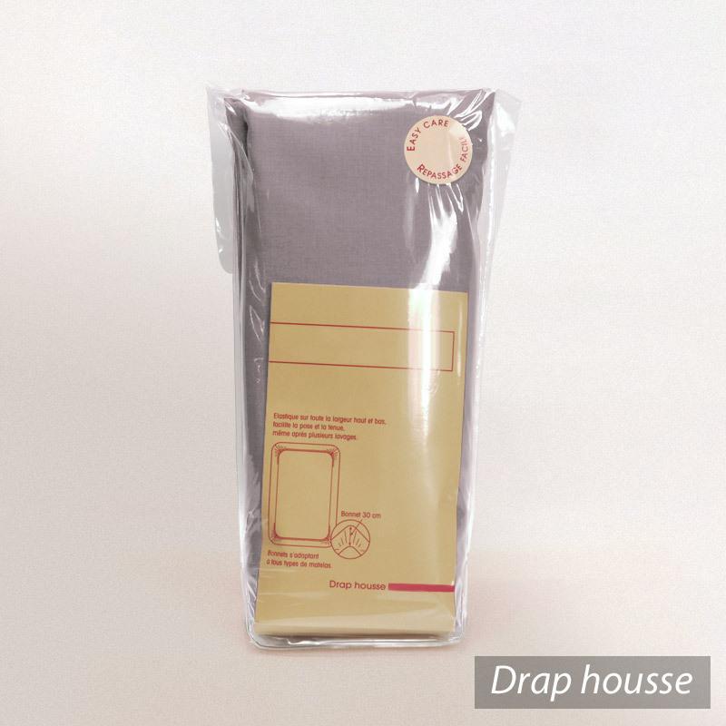 drap housse 120x200cm uni pur coton alto violet violine linnea linge de maison et. Black Bedroom Furniture Sets. Home Design Ideas