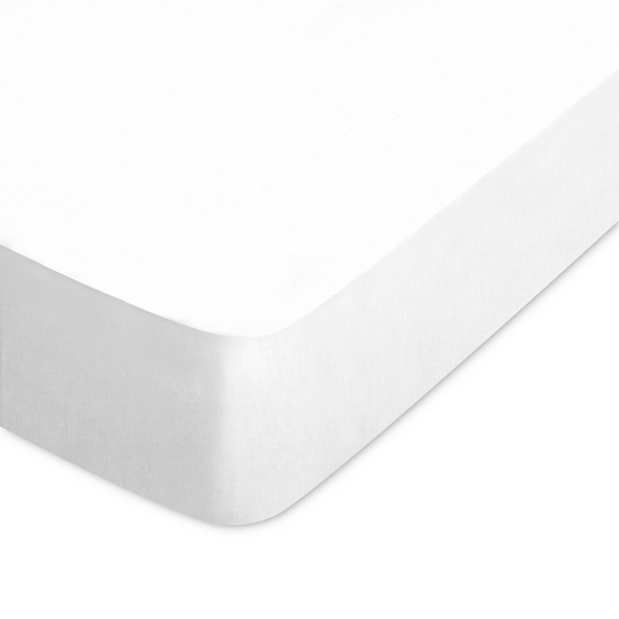 drap housse 160x190cm uni pur coton alto blanc linnea linge de maison et. Black Bedroom Furniture Sets. Home Design Ideas
