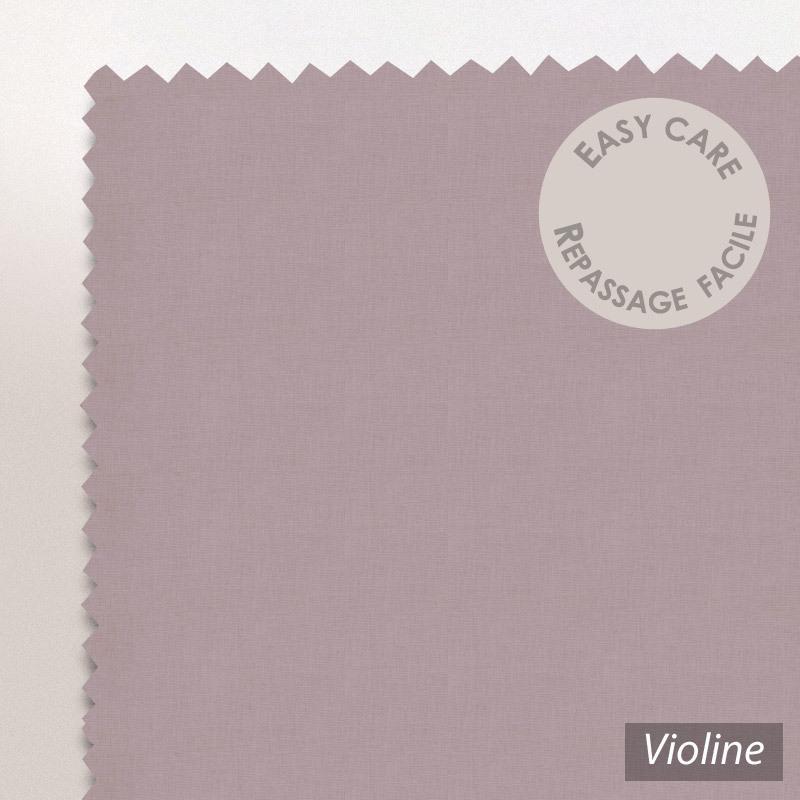 drap housse 160x200cm uni pur coton alto violet violine linnea linge de maison et. Black Bedroom Furniture Sets. Home Design Ideas